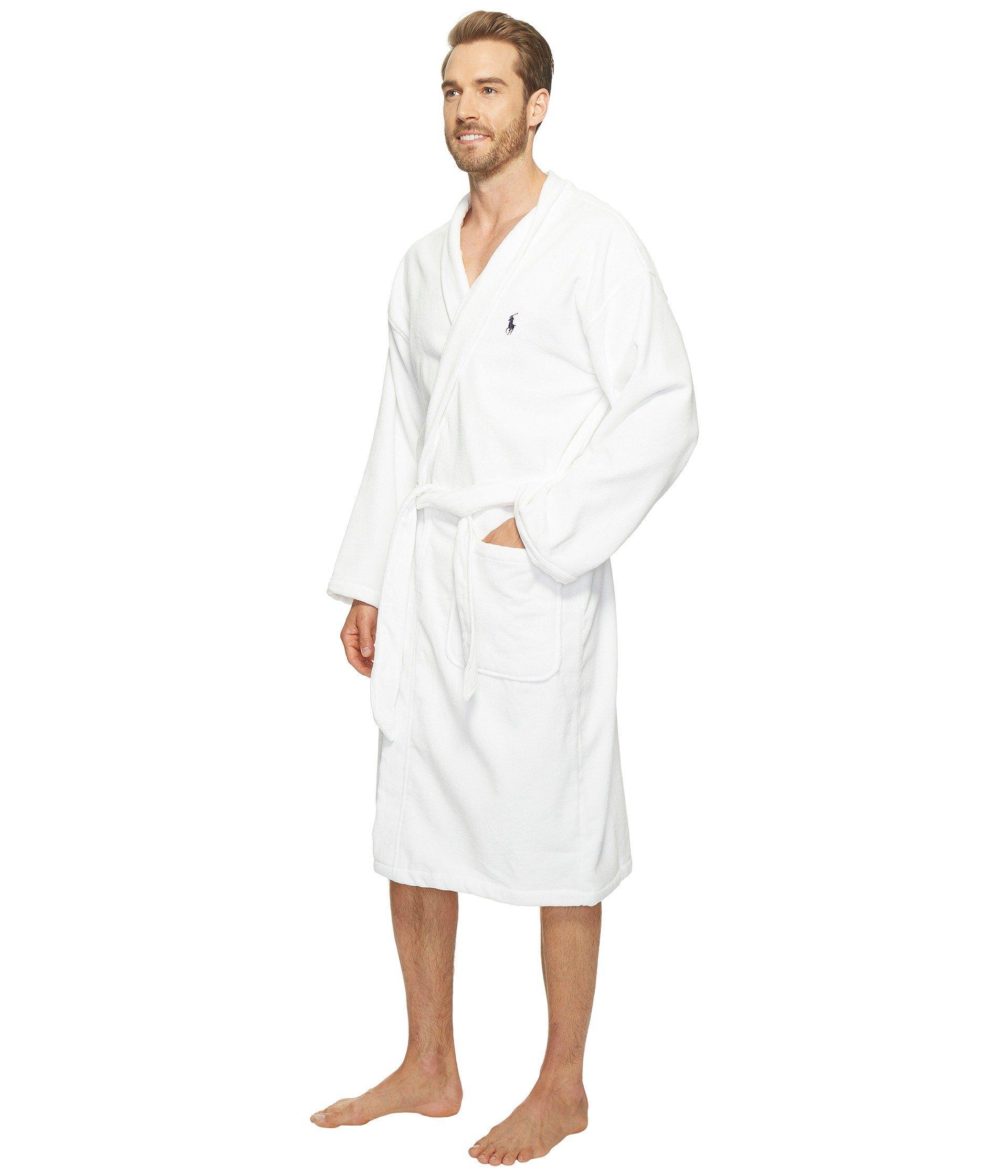 Lyst - Polo Ralph Lauren Terry Shawl Robe (white) Men s Robe in White for  Men 7636314d3