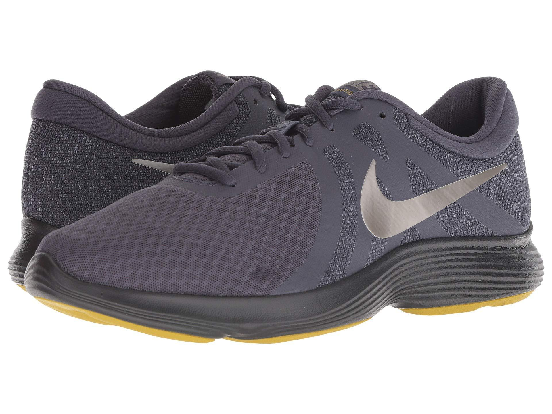 4b4d57fd8ac Lyst - Nike Revolution 4 (black university Red oil Grey white) Men s ...