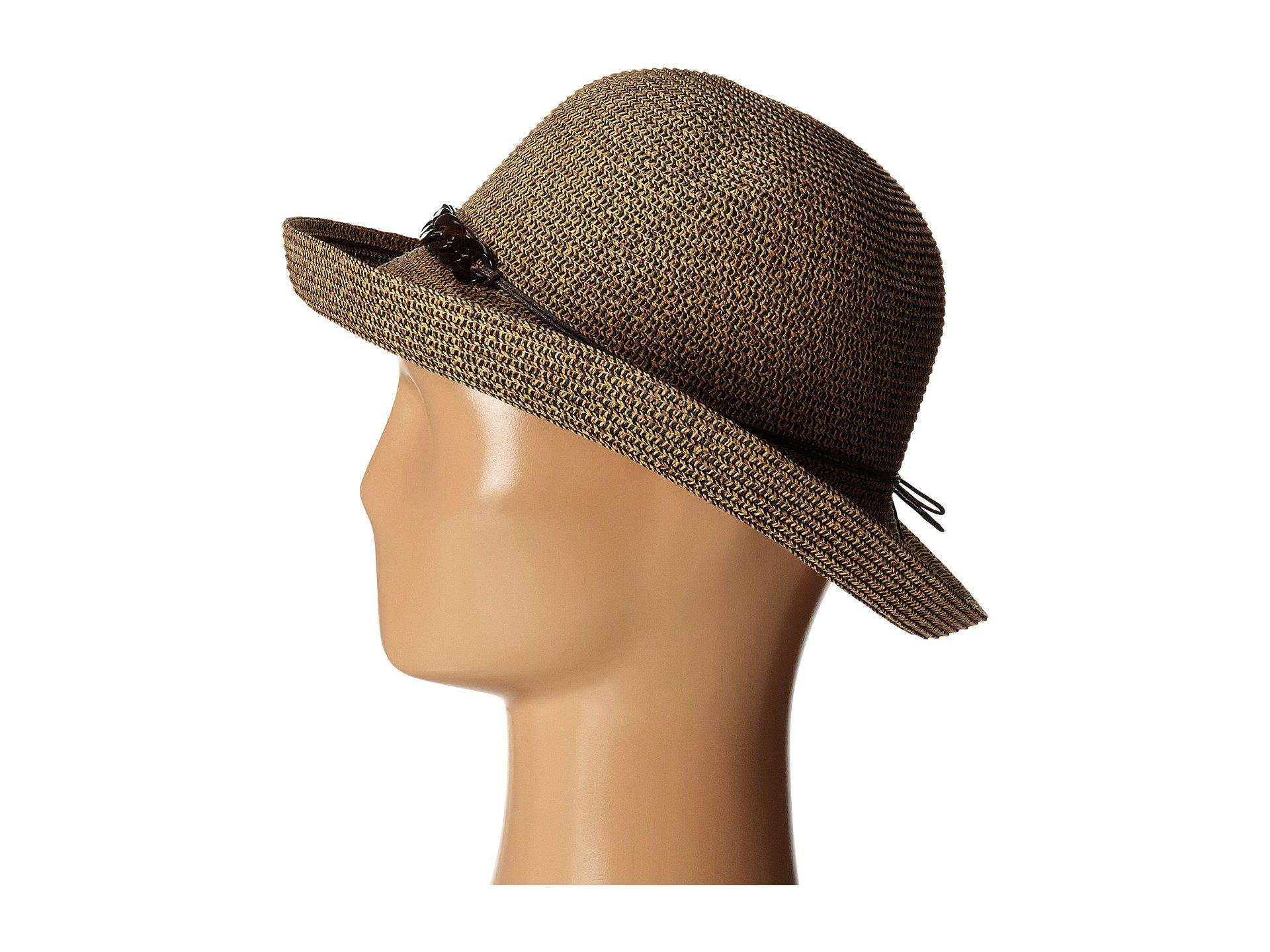 1aab1c239ae San Diego Hat Company - Brown Ubm4440 Kettle Brim W  Tortoise Shell Chain  (mixed. View fullscreen