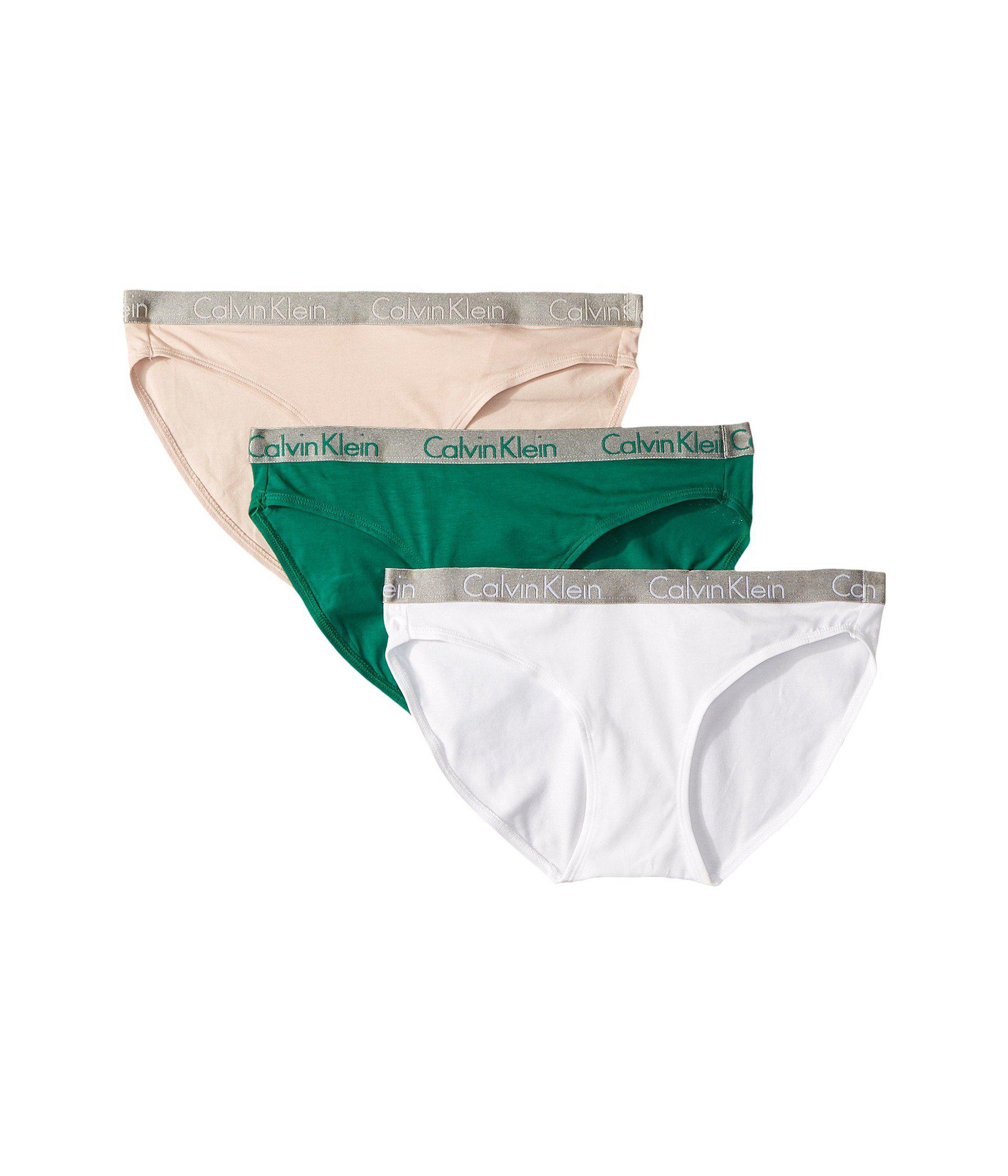 cace7c9a3 Lyst - Calvin Klein Radiant Cotton 3-pack Bikini (unity ashford Grey ...