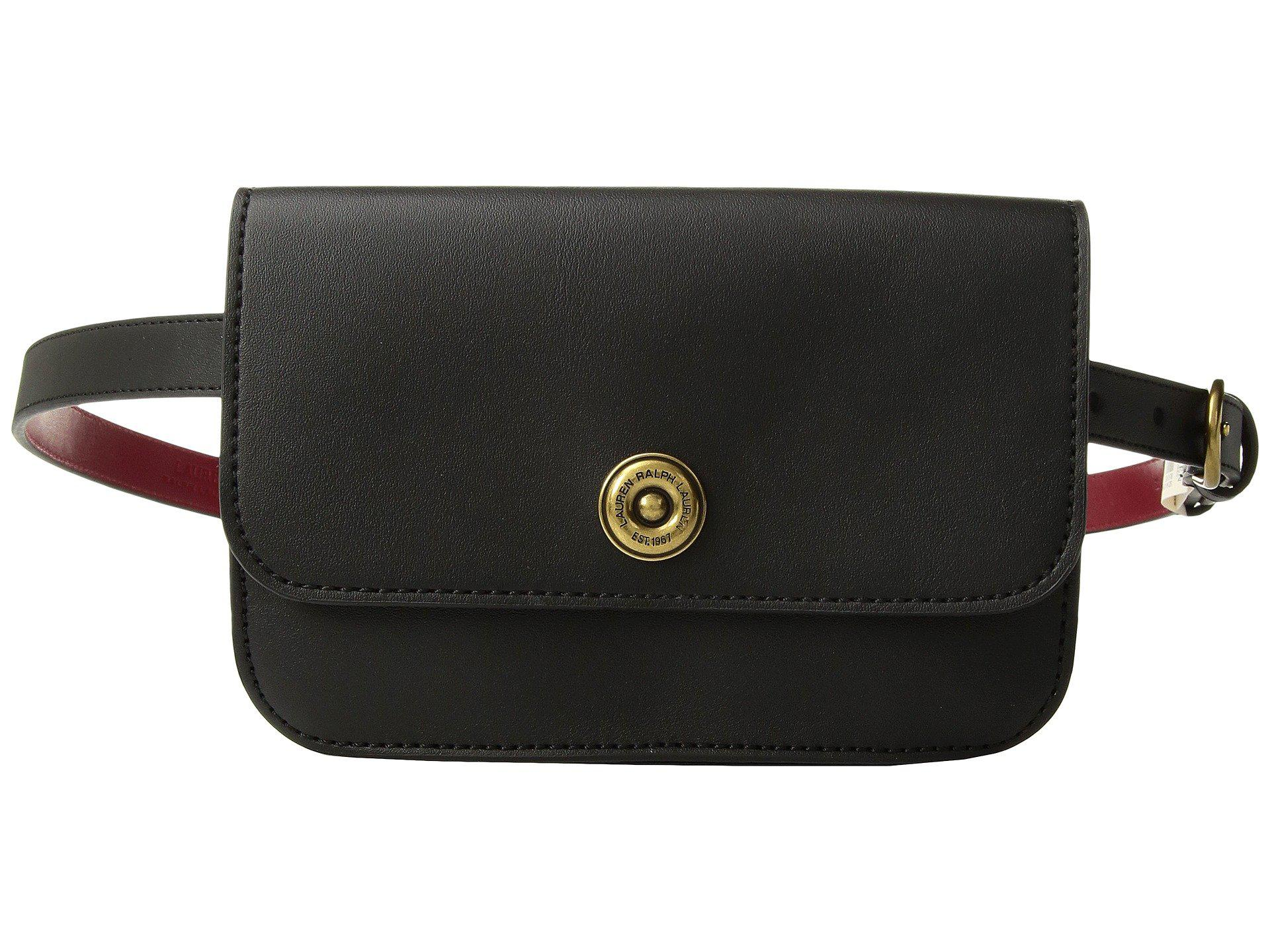 c8c70696c86e Lyst - Lauren by Ralph Lauren Millbrook Belt Bag in Black