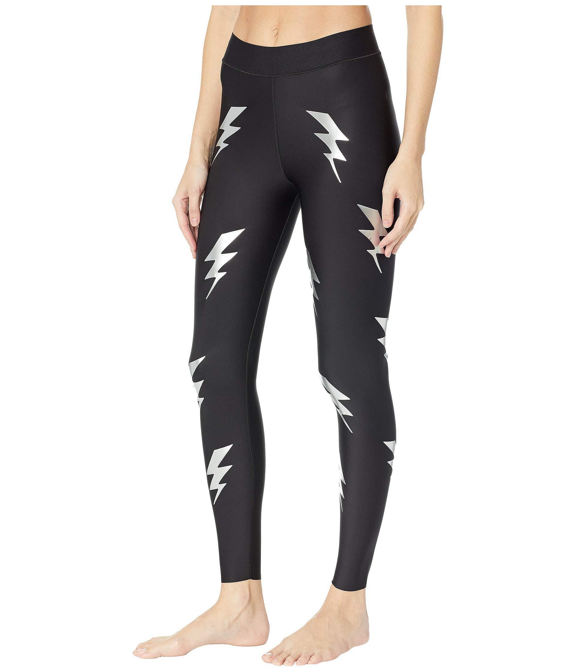 5372c41542129 Lyst - Ultracor Ultra Silk Bolt Leggings (nero Silver) Women's Workout in  Black