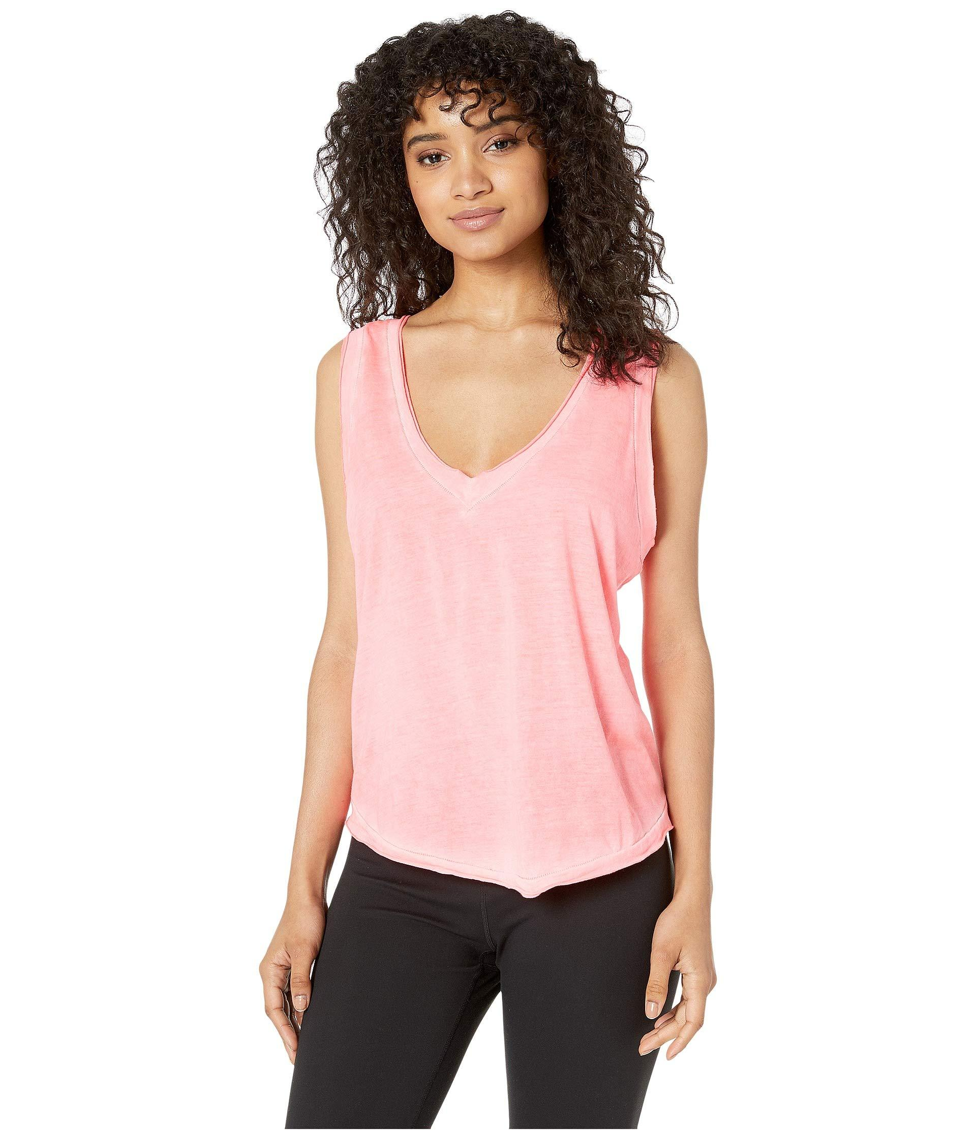38d414ec0c6f6d Lyst - Free People Henry Tank Top (grey Combo) Women s Workout in Pink