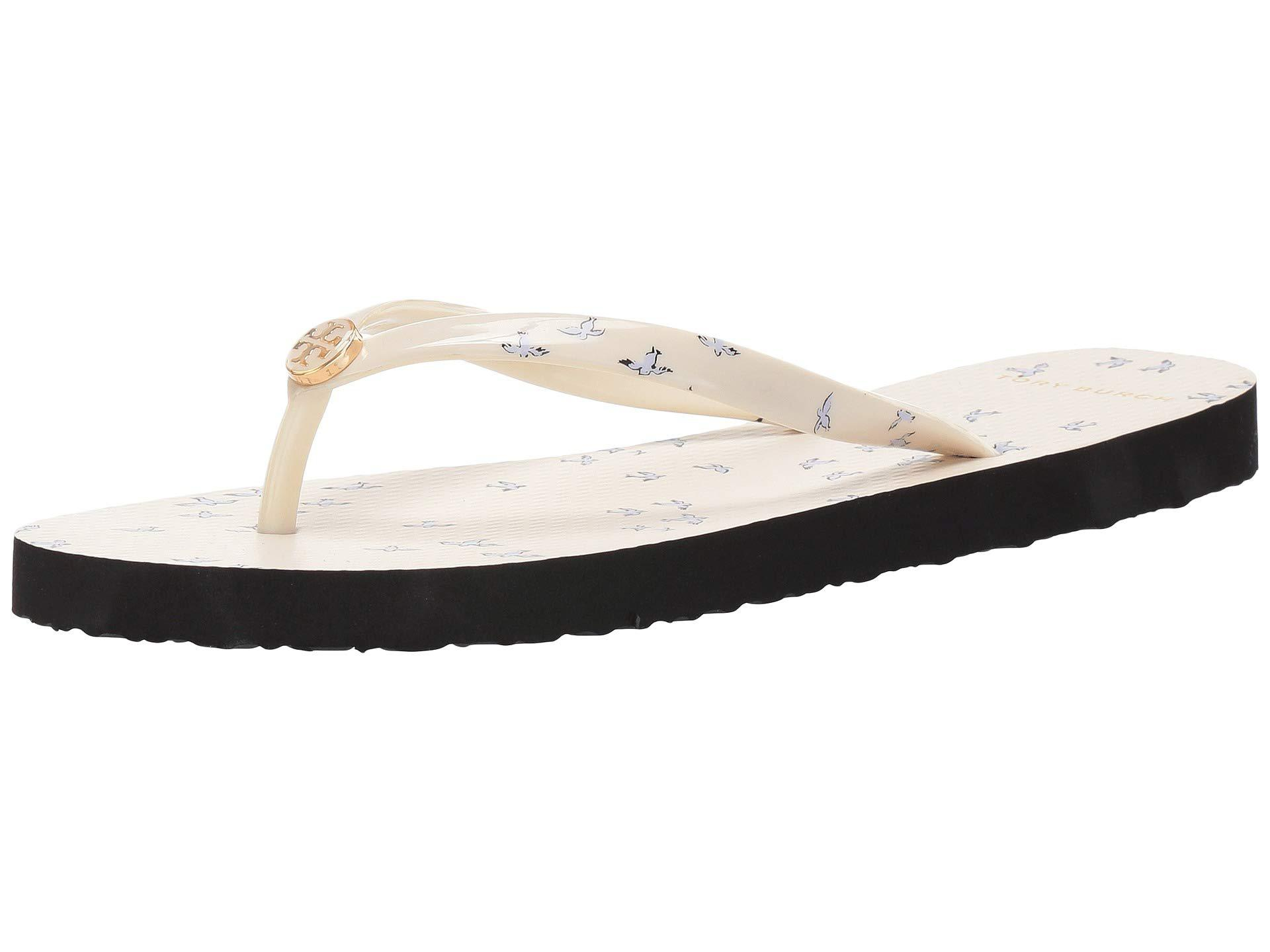 98dffea46c88 Tory Burch - White Printed Thin Flip-flop (ivory Early Bird) Women s Sandals.  View fullscreen