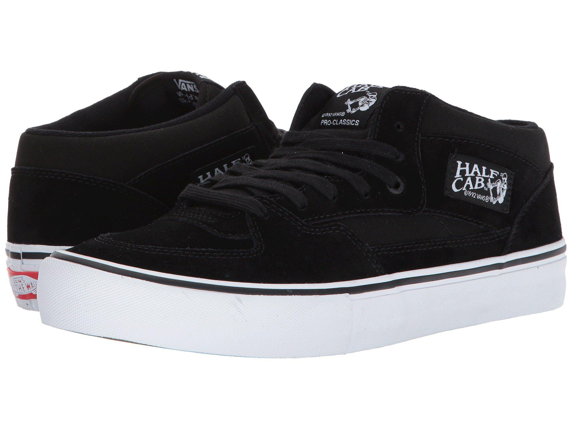 e1d7607005 Lyst - Vans Half Cab(r) Pro (black black white) Men s Skate Shoes in ...