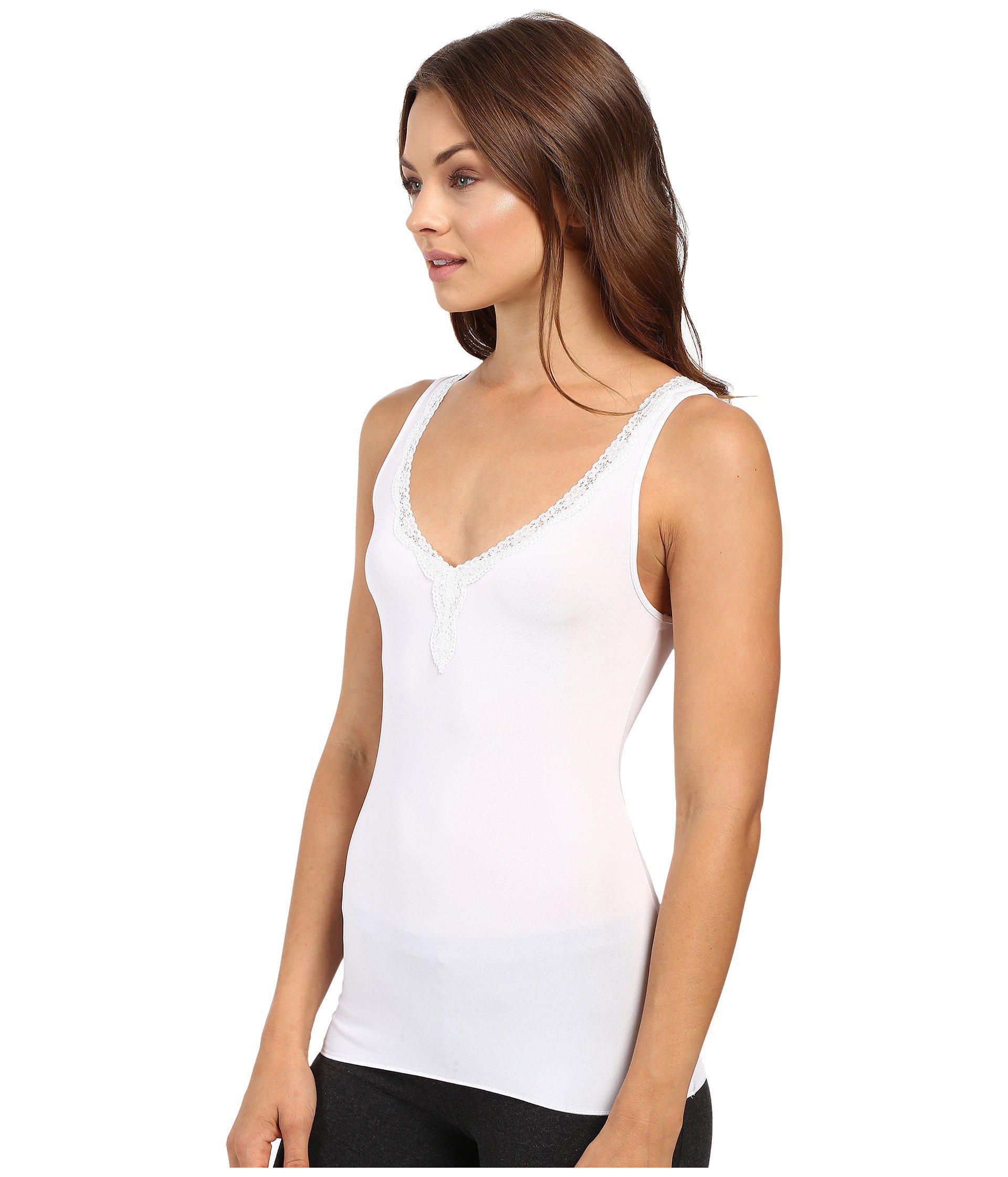 1fd96b1f4865 Jockey No Panty Line Promise Tactel Lace Tank Top (white) Women's ...