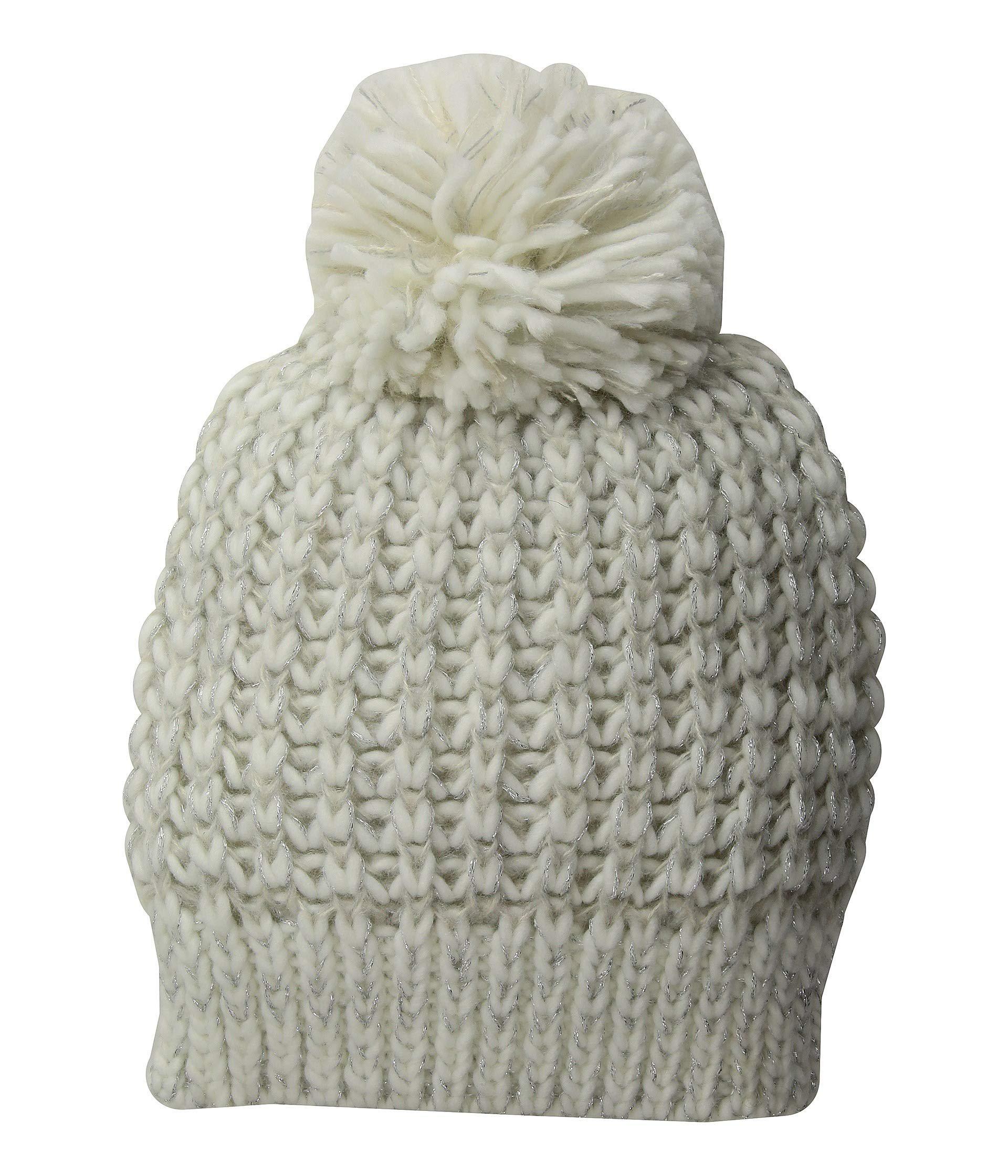 c10b93d720b San Diego Hat Company. Women s White Knh3604 Metallic Yarn Beanie With ...