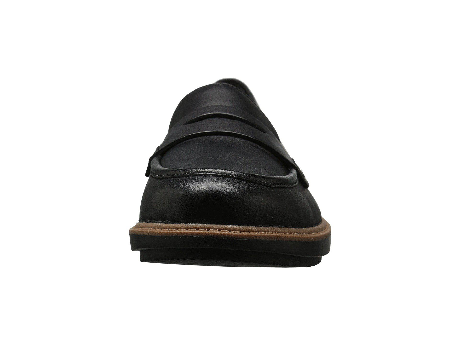 91ee0b8e83a Clarks - Raisie Eletta (black Leather) Women s Slip On Shoes - Lyst. View  fullscreen
