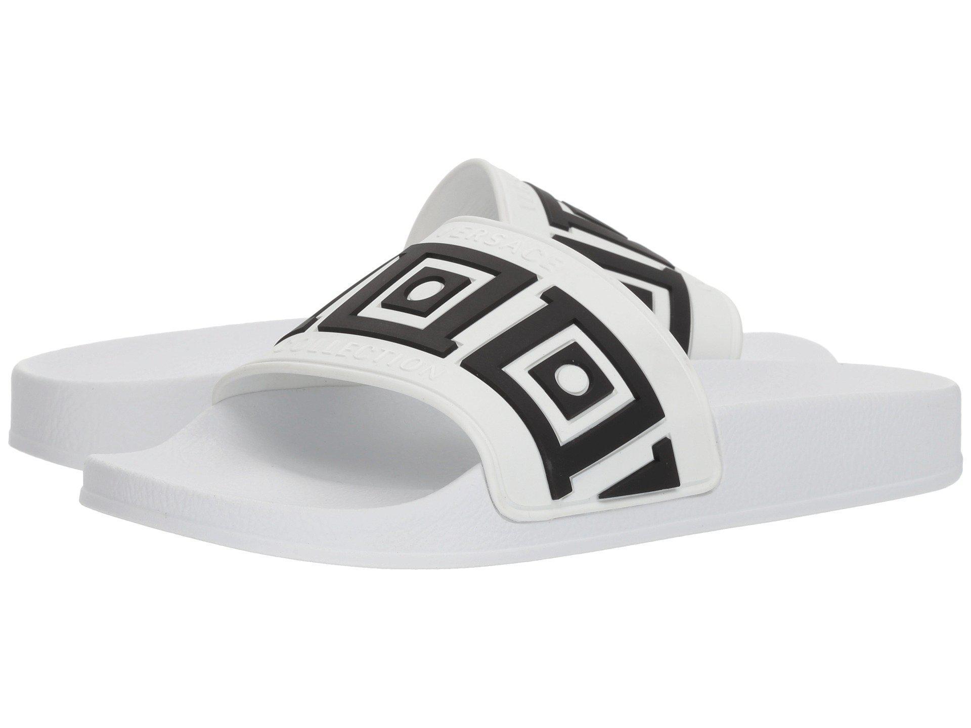 5c07a6662 Versace - Greca Pool Slide (black white) Men s Shoes for Men - Lyst. View  fullscreen