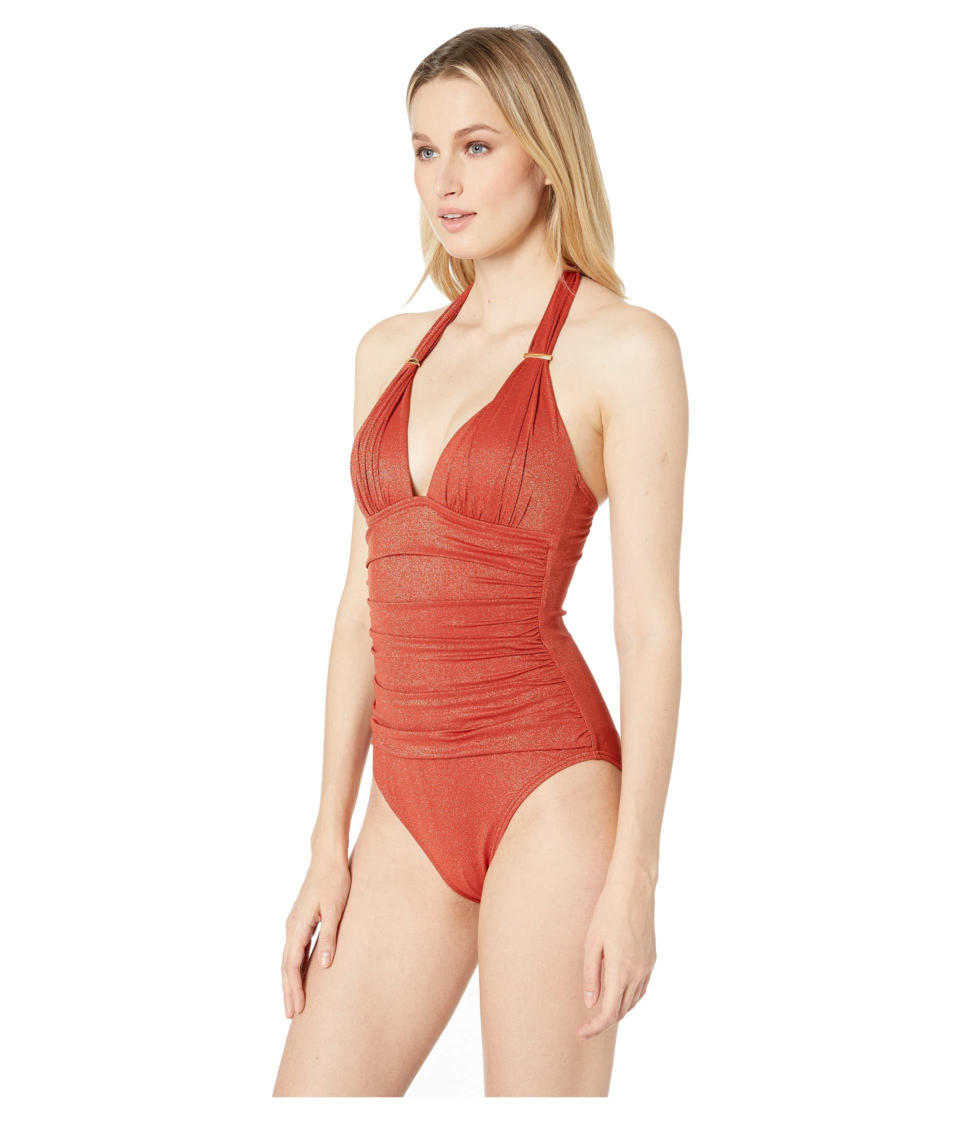 4bfdda1552ab3 Lyst - Kenneth Cole Night Escapade Push-up Mio One-piece (cinnamon) Women s Swimsuits  One Piece in Red