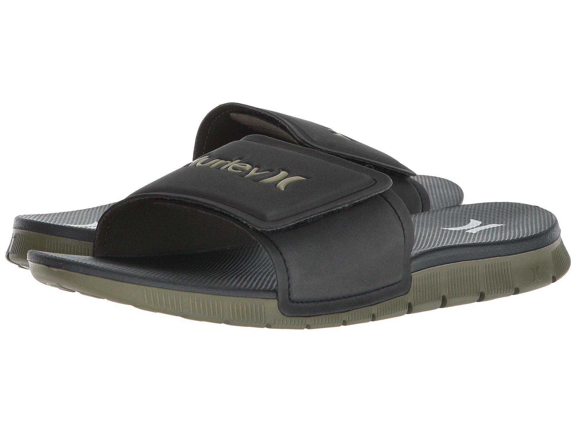 360528139b0b Lyst - Hurley Fusion 2.0 Slide (black) Men s Slide Shoes in Black ...