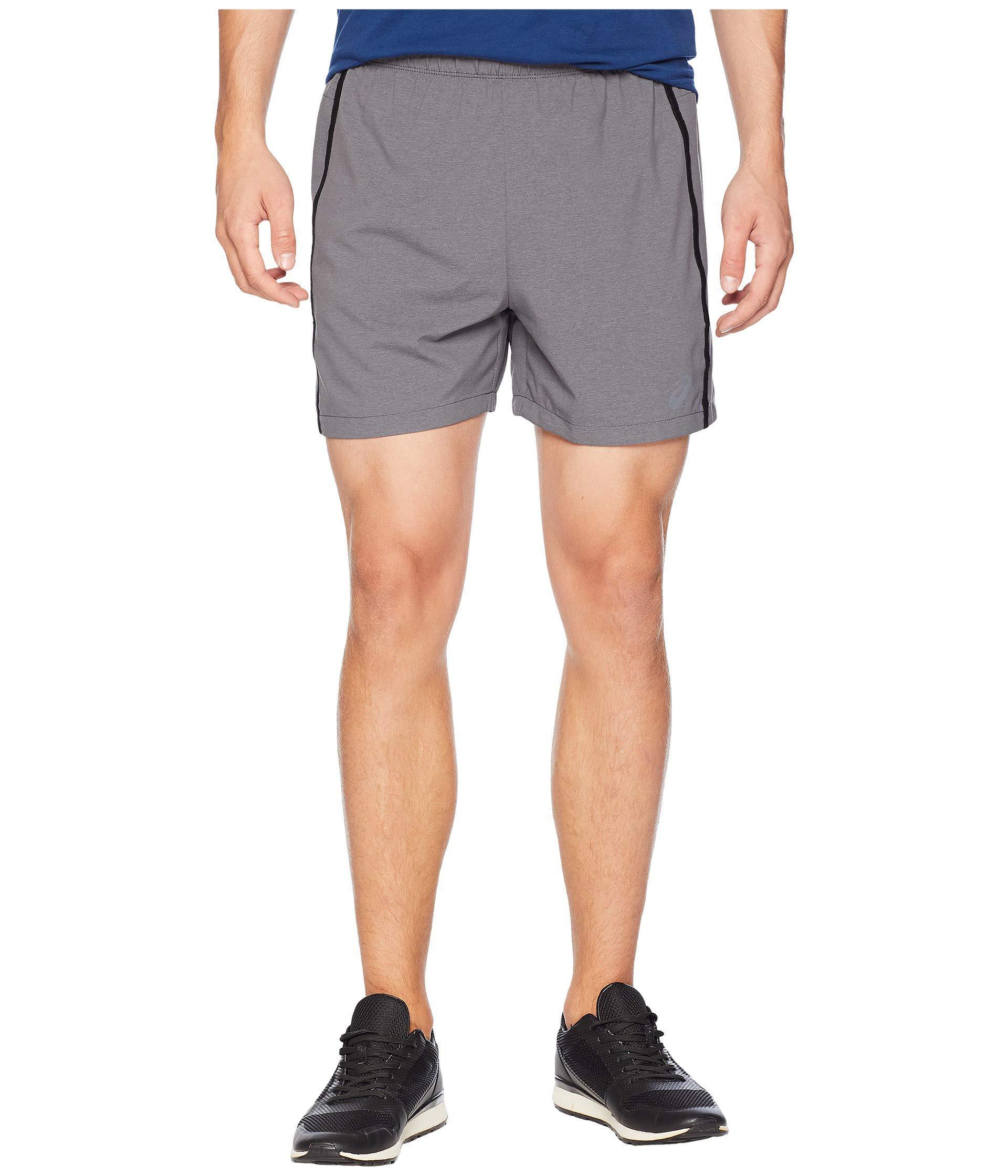 abcdd593aa Lyst - Asics 5 Shorts (dark Grey Heather) Men's Shorts in Gray for Men