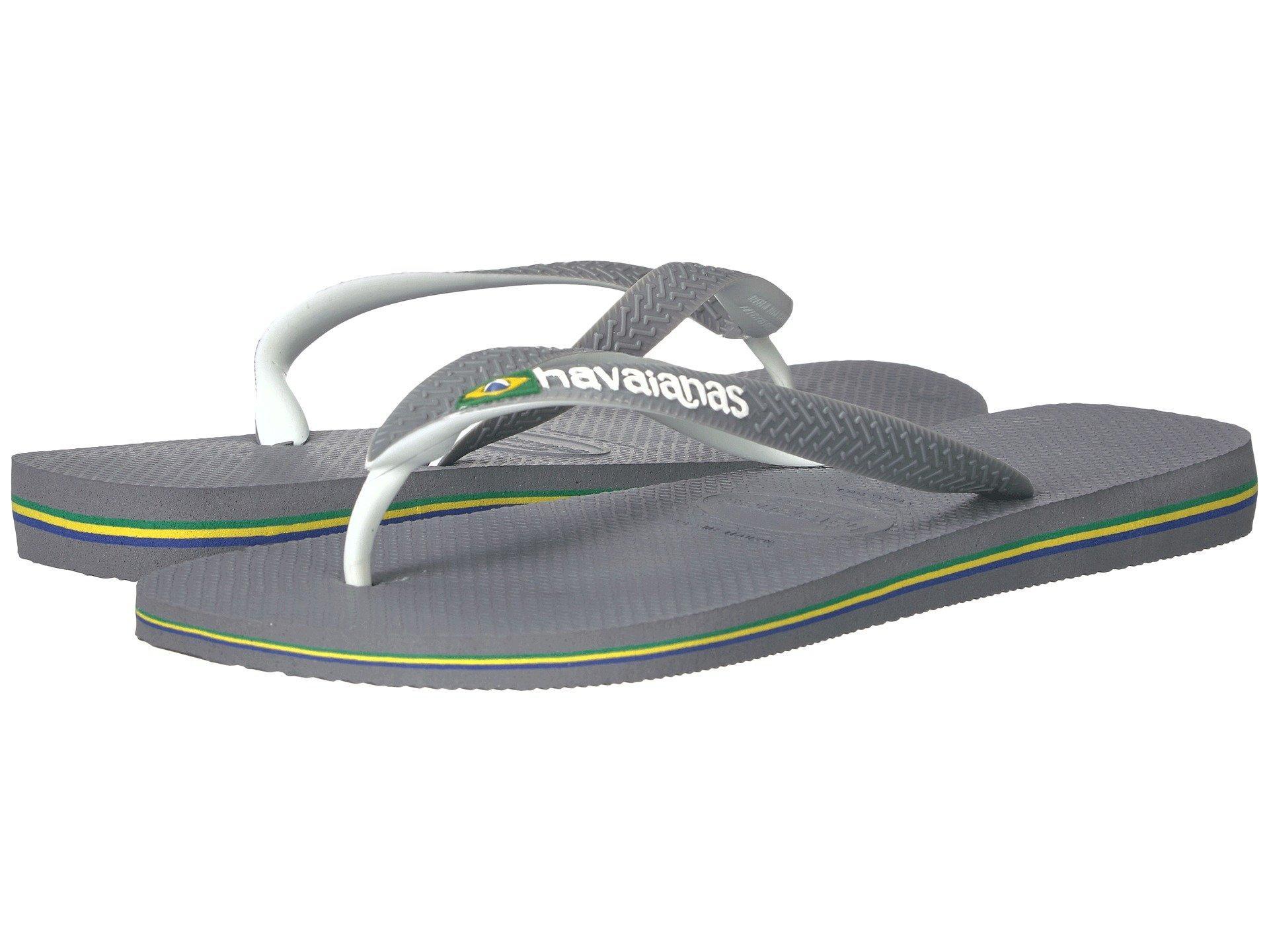 fc990b7e9 Lyst - Havaianas Brazil Mix Flip Flops (blue orange) Men s Sandals ...