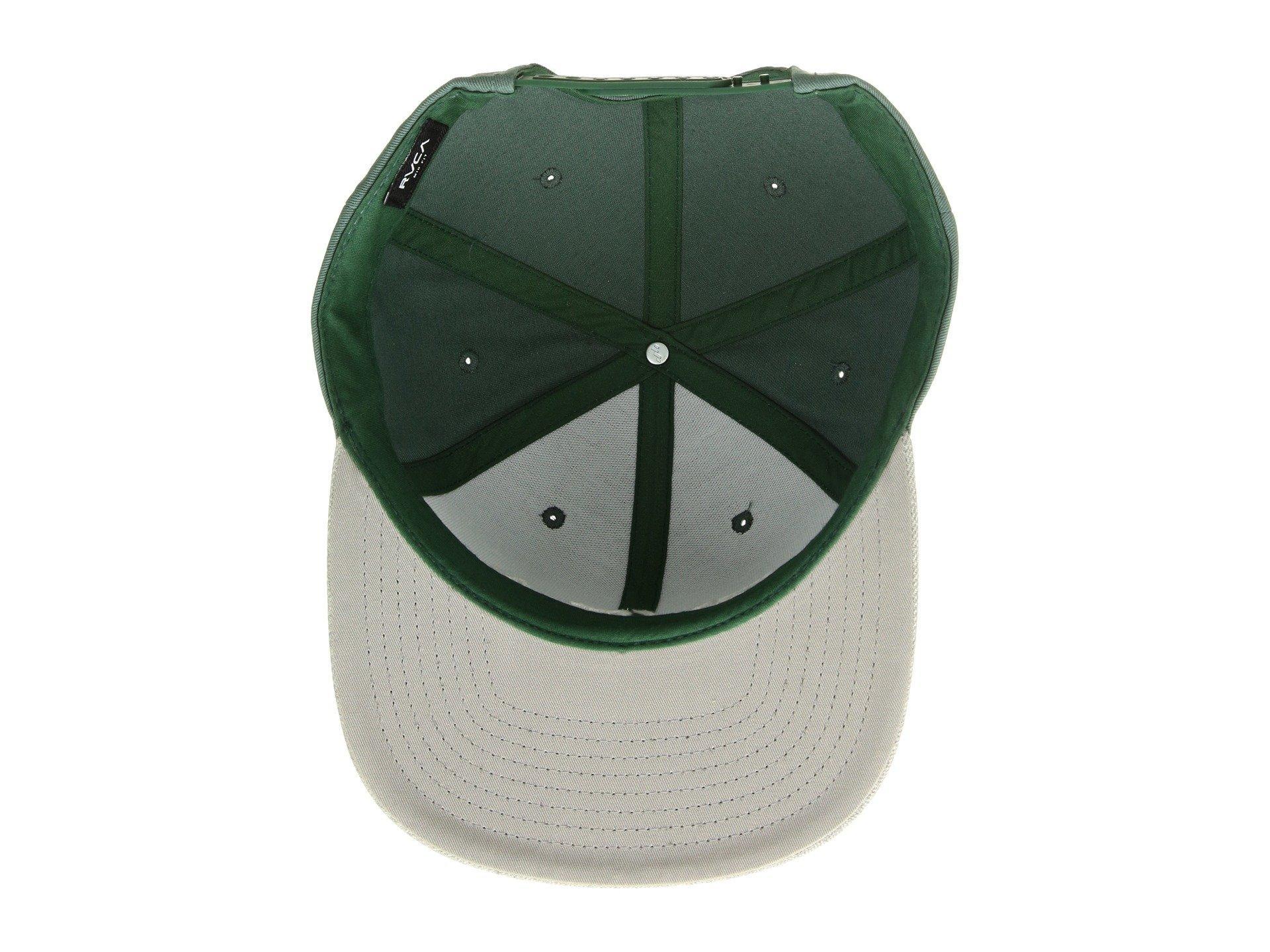 newest b1bea 61f2f RVCA - Green Twill Snapback (navy red) Baseball Caps for Men - Lyst. View  fullscreen