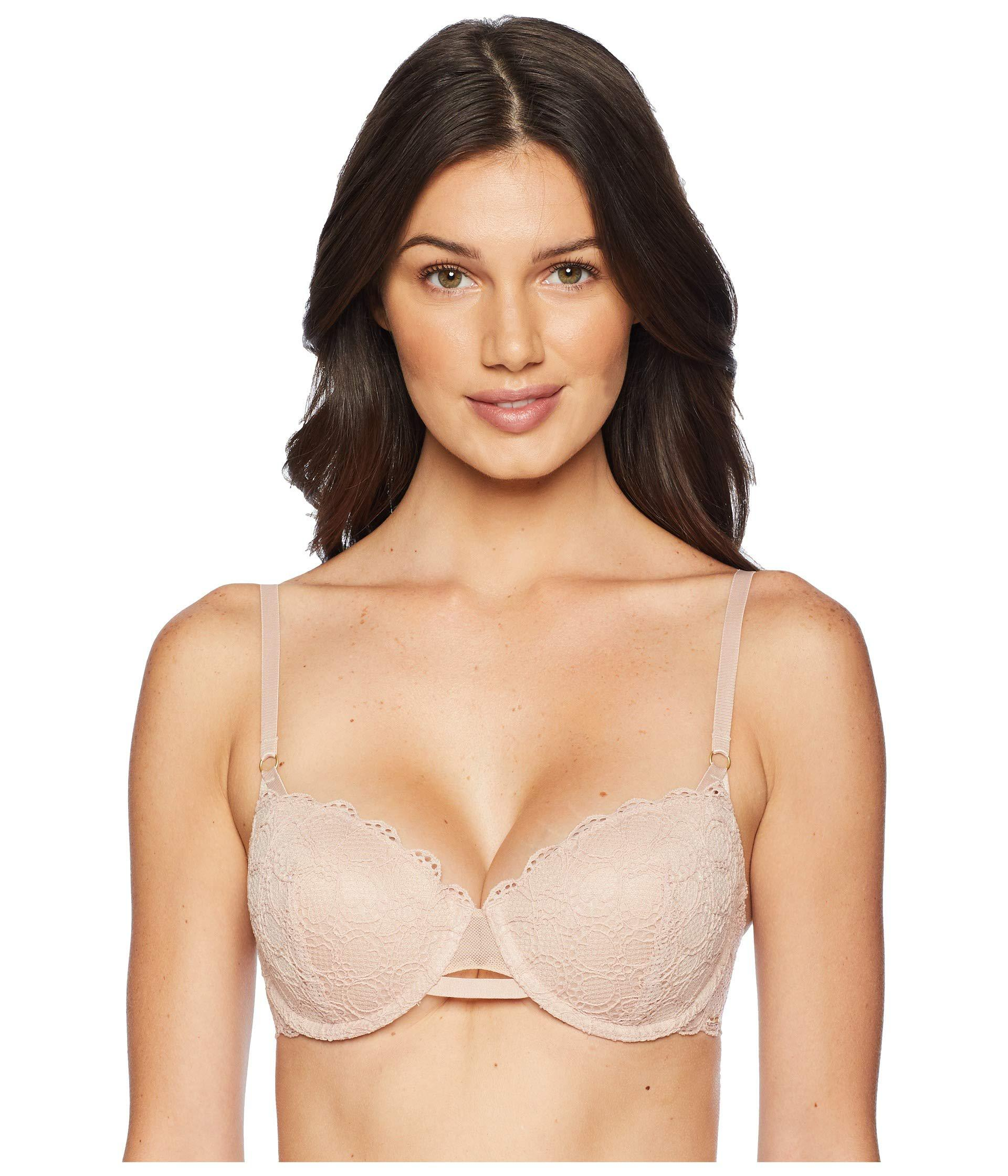 1f21ad63ae Lyst - DKNY Superior Lace Balconette (black) Women s Bra in Natural