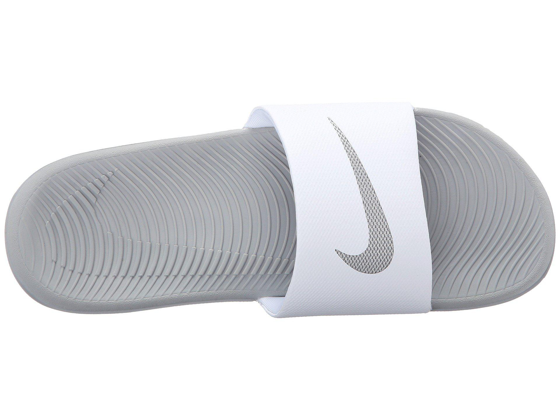 a7d00e917 Lyst - Nike Kawa Slide (white metallic Silver) Women s Sandals in .