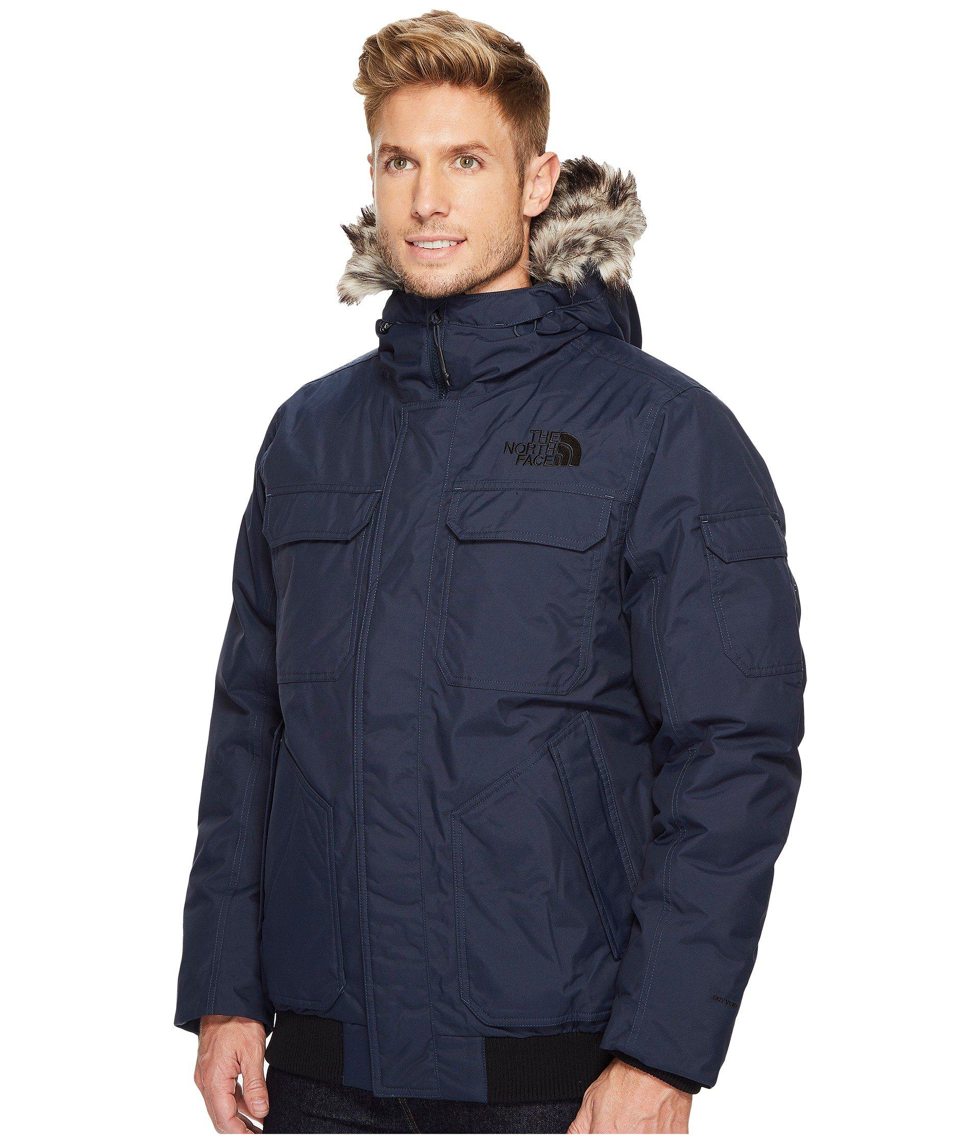 ... inexpensive lyst the north face gotham jacket iii tnf black metallic  copper mens coat in blue 5d5a553be