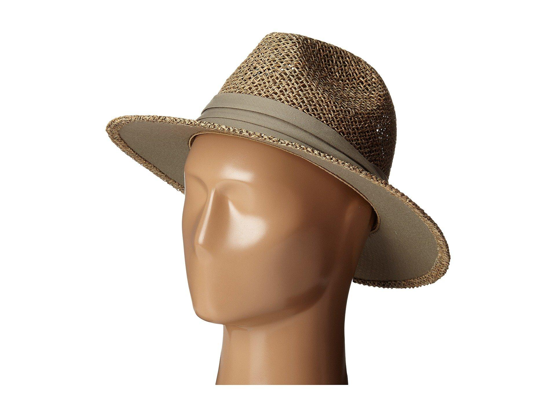 2a2a1b265597d San Diego Hat Company. Men s Natural Sgm502 Seagrass Panama Fedora W  Cloth  Band ...