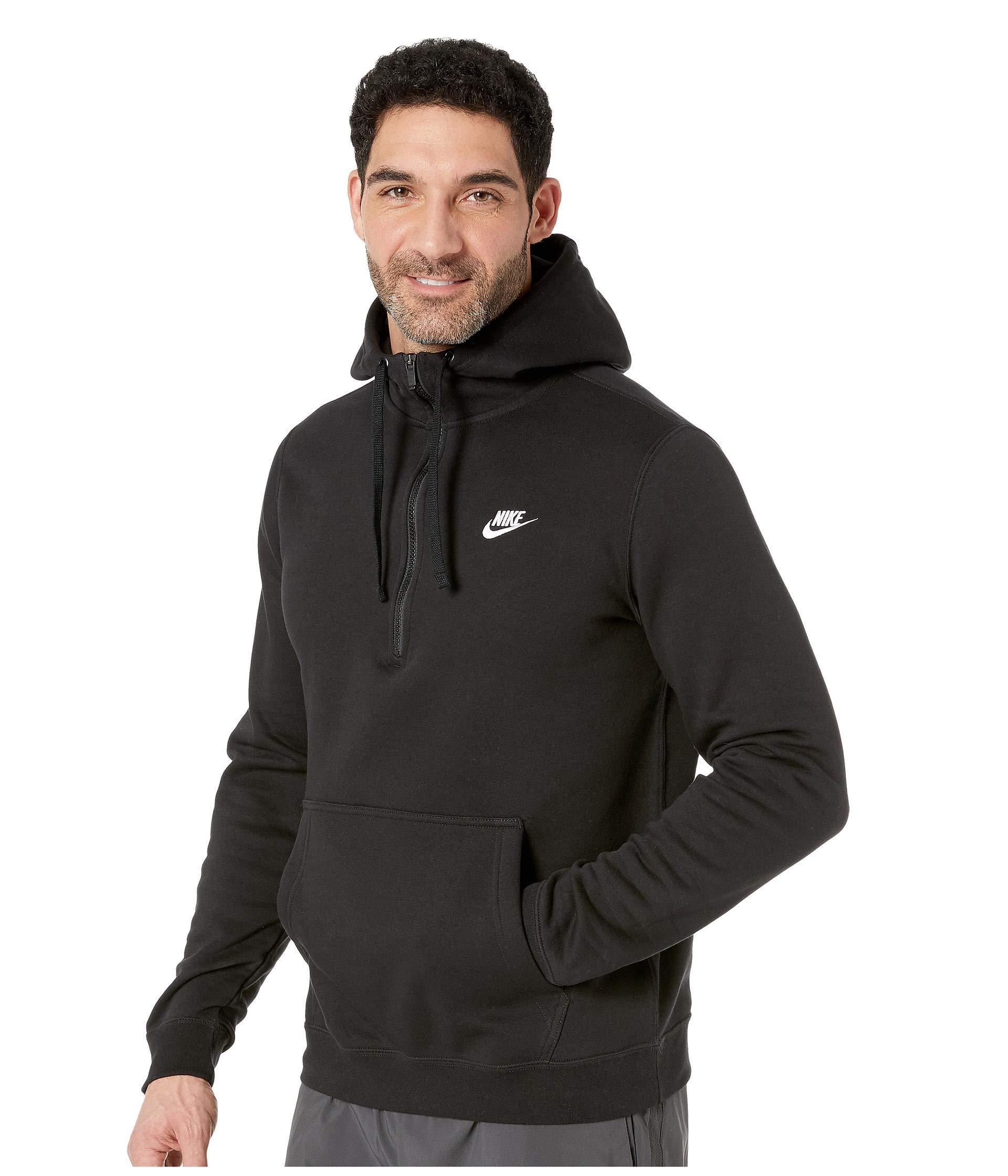 ce3fc2902aa Lyst - Nike Sportswear 1 2 Zip Hoodie (black black white) Men s Sweatshirt  in Gray for Men
