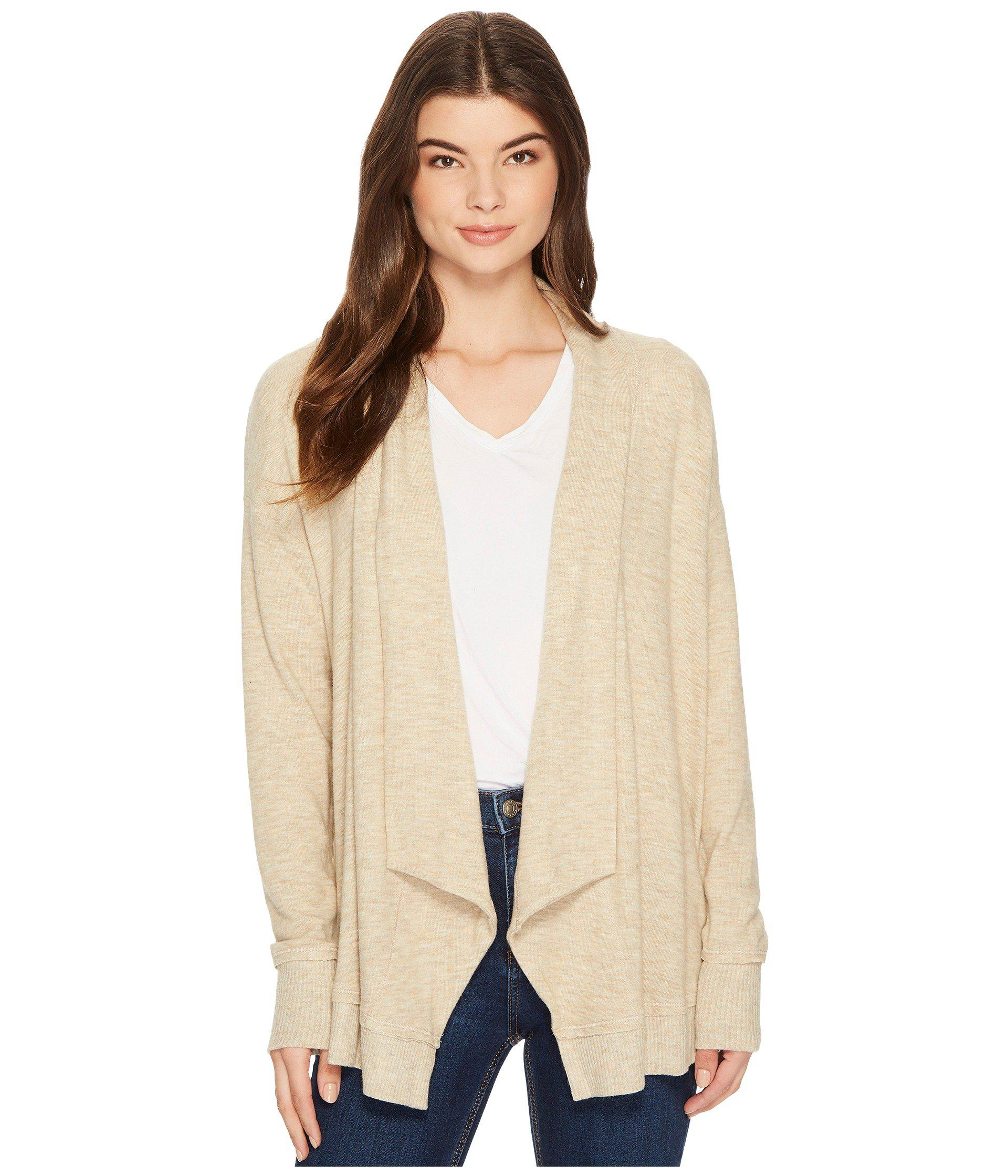Michael stars Super Soft Madison Long Sleeve Open Cardigan in ...