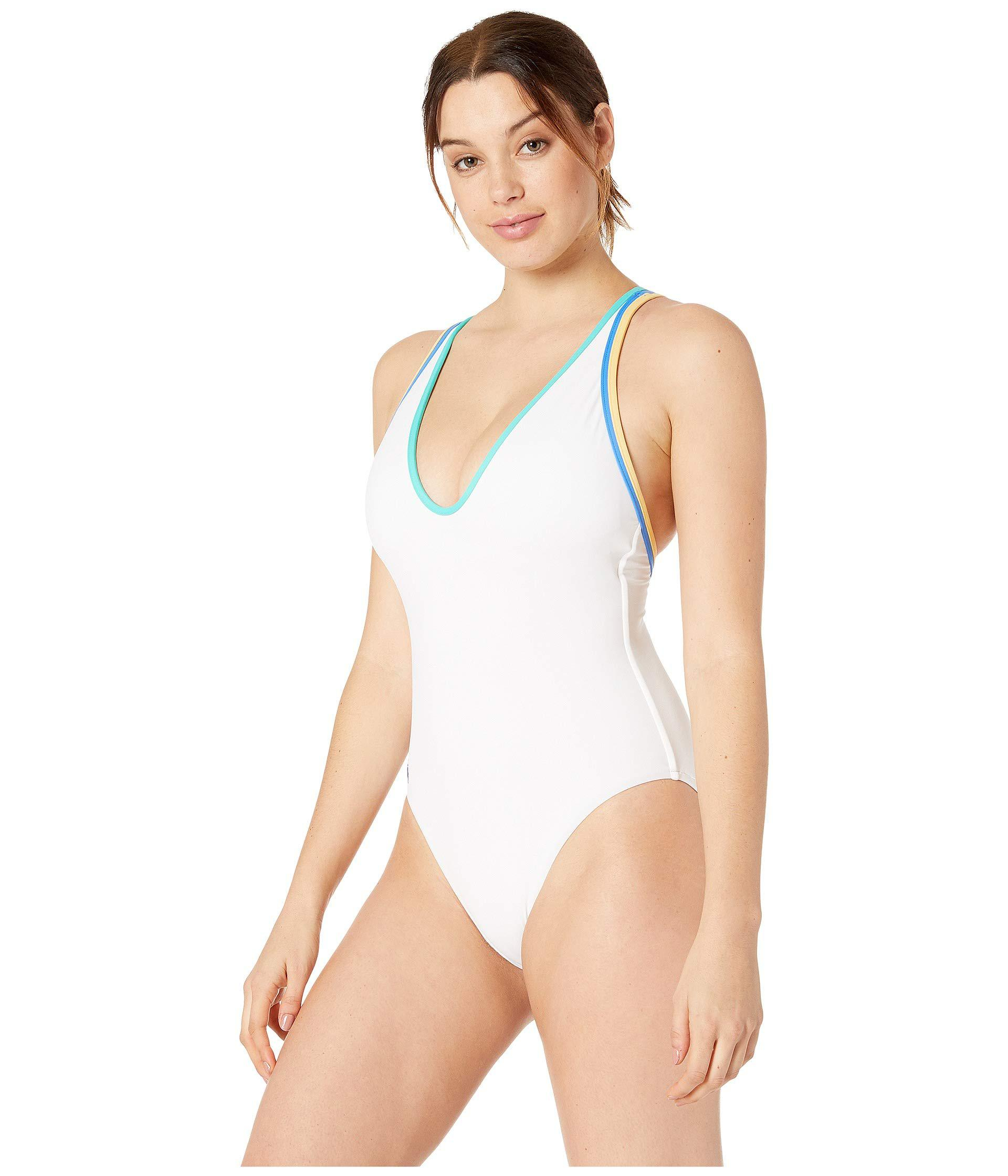 549204350295a1 Lyst - Polo Ralph Lauren Double Binding Multi Strap One-piece (white)  Women s Swimsuits One Piece in White