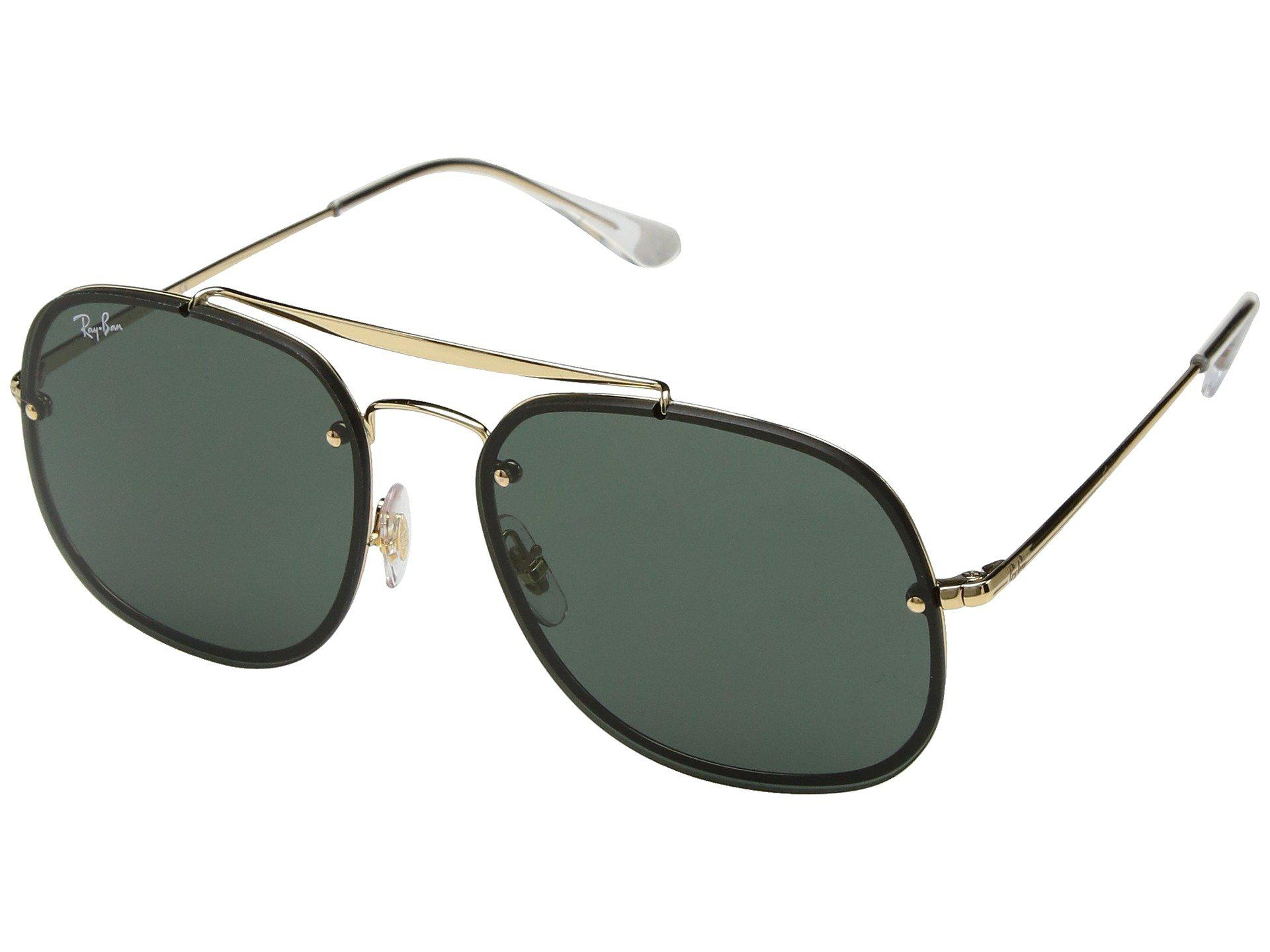 d8cea16777 Ray-Ban. Women s Green Blaze General Rb3583n 58mm (gunmetal brown Gradient) Fashion  Sunglasses