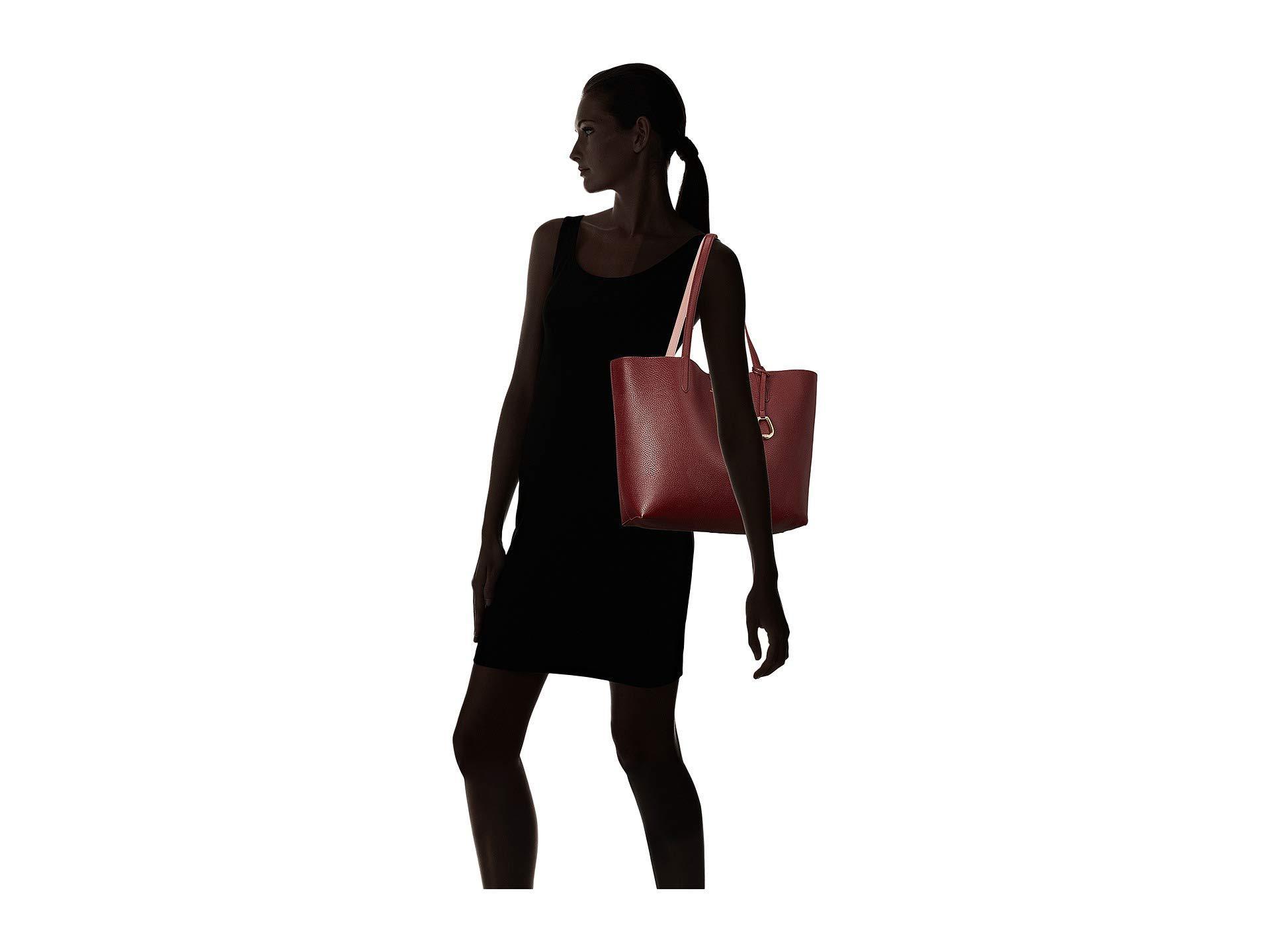 Lyst - Lauren by Ralph Lauren Merrimack Reversible Tote (black black ... 17041c525e07a