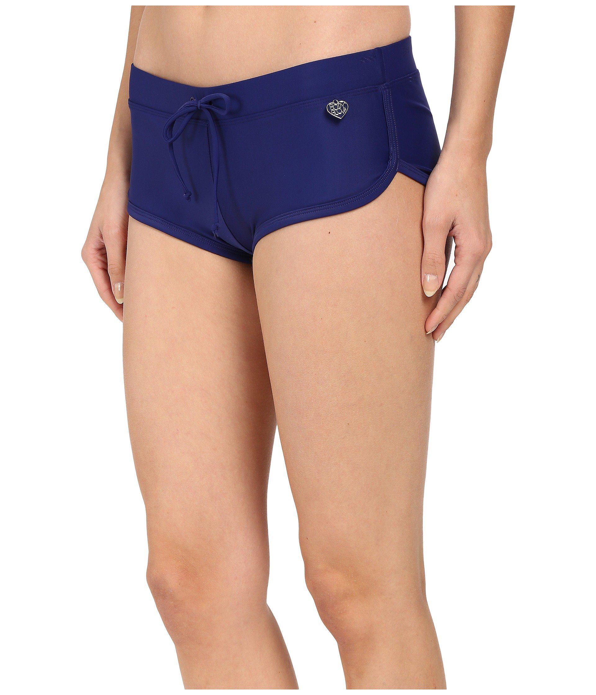 ea077406317f2 Lyst - Body Glove Smoothies Sidekick Sporty Swim Short (abyss) Women s  Swimwear in Blue