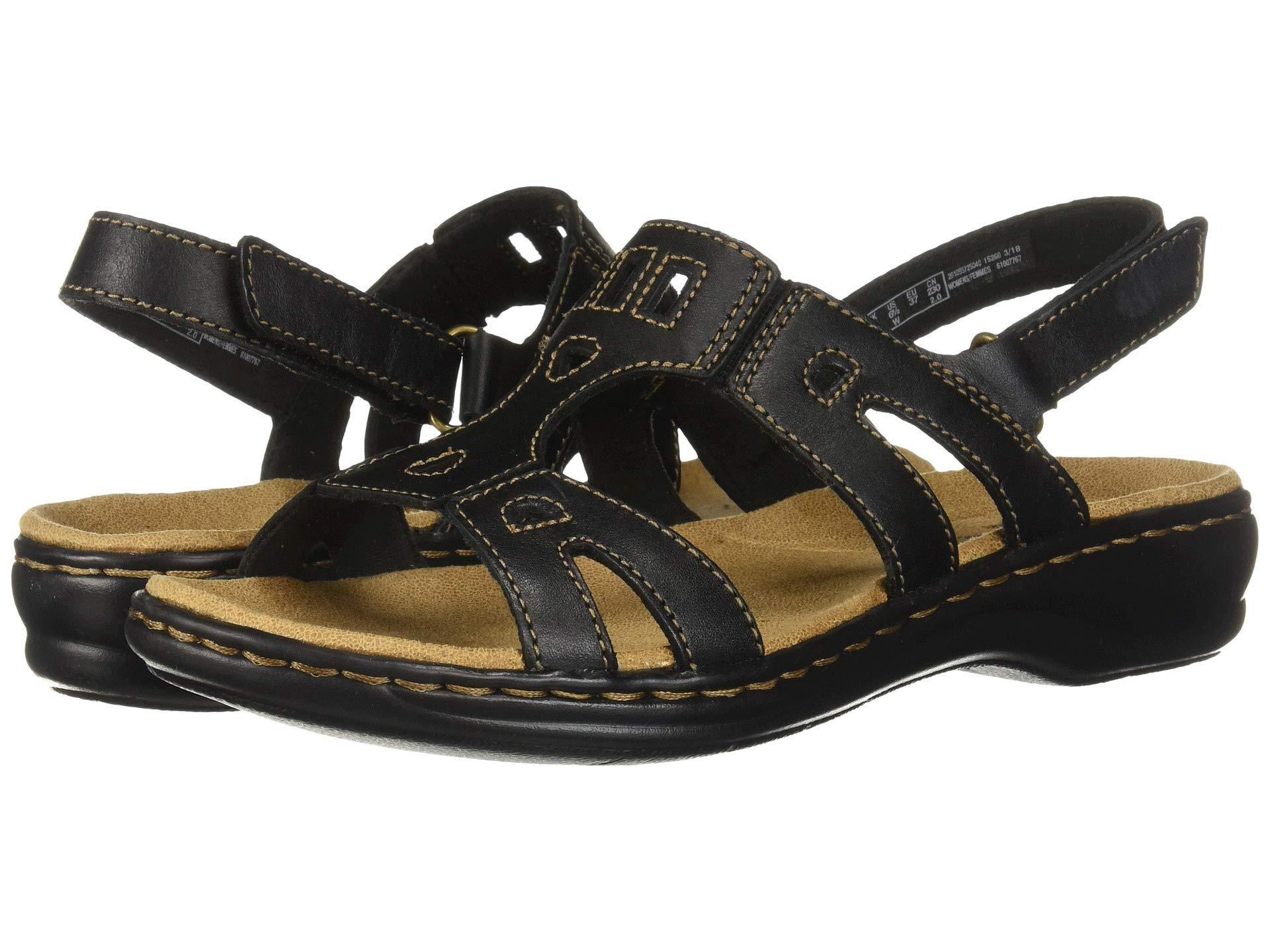 68b152121edd Lyst - Clarks Leisa Annual (dark Tan Leather) Women s Sandals in Black