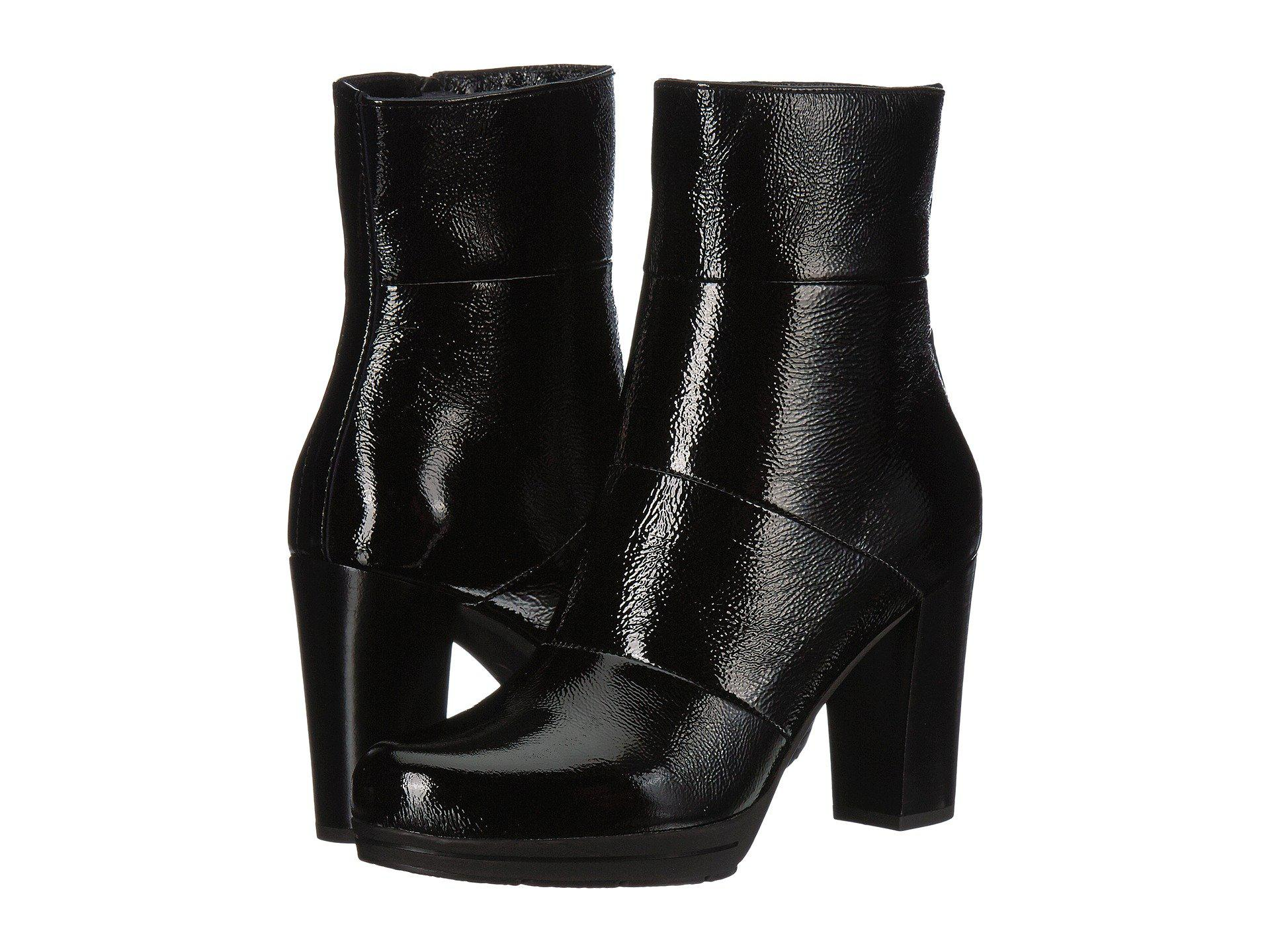 La Canadienne Mirabella Black Patent Women S Boots In