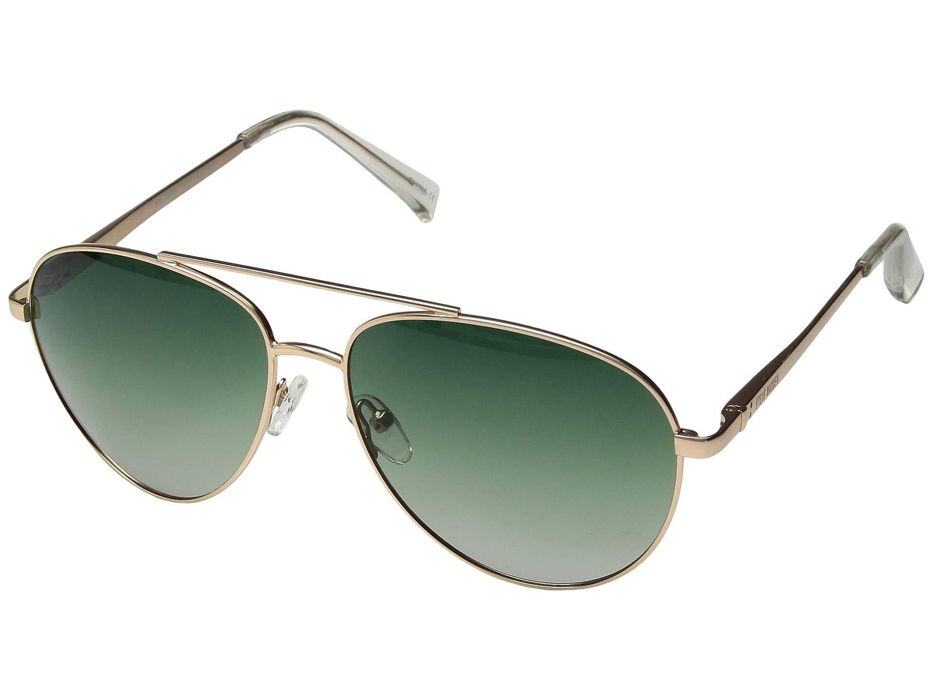 d6f1bf330fb Lyst - Steve Madden Polarized Max (gold Frame green Lens) Fashion ...