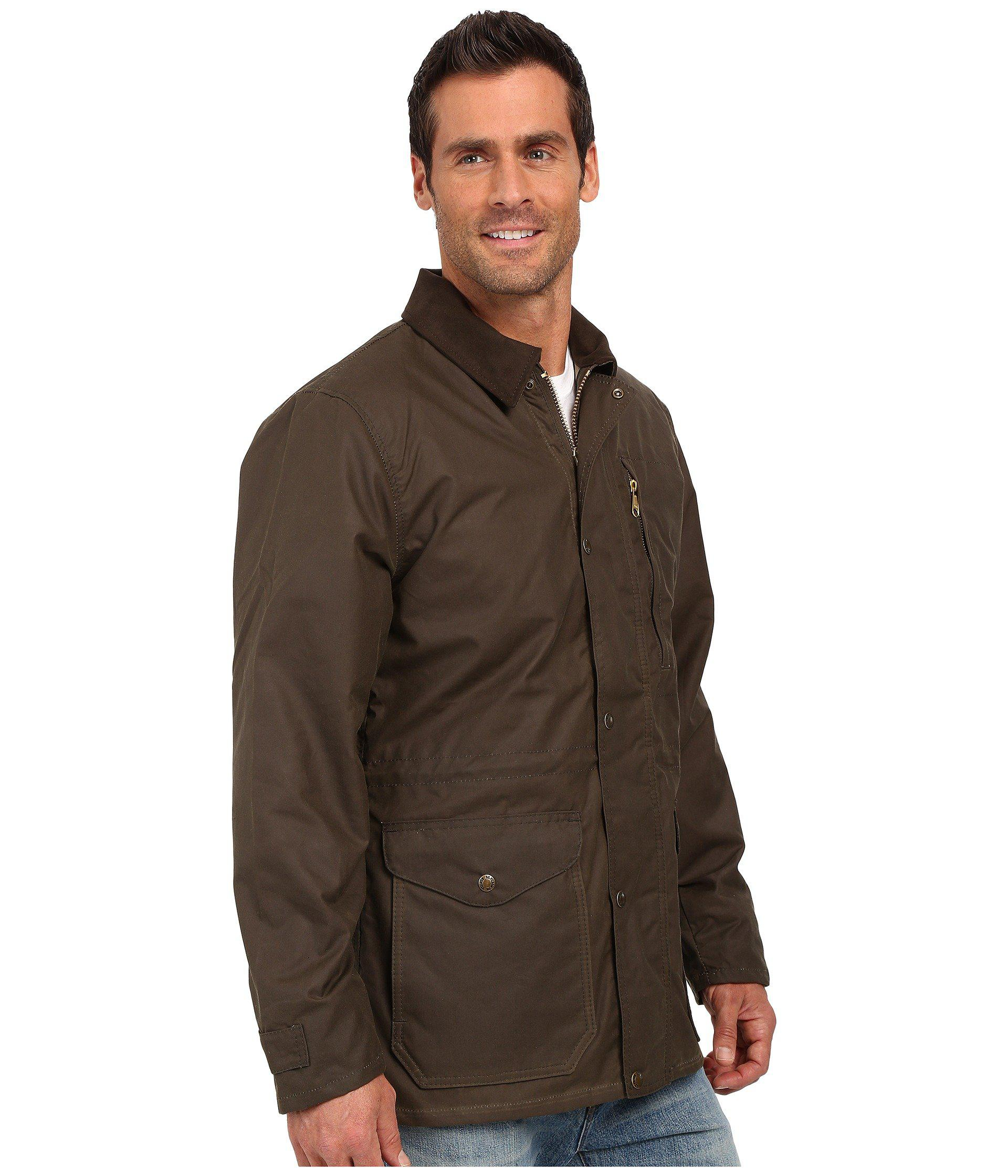 Filson Cover Cloth Mile Marker Coat In Green For Men Lyst