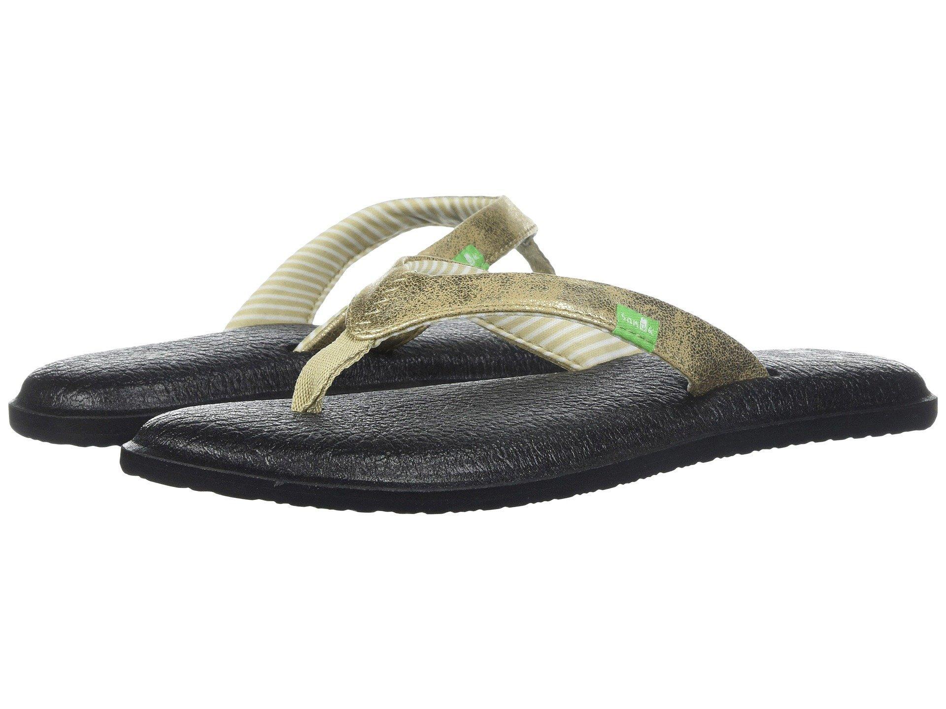 bd86bba6f36 Lyst - Sanuk Yoga Chakra Metallic (silver 2) Women s Sandals