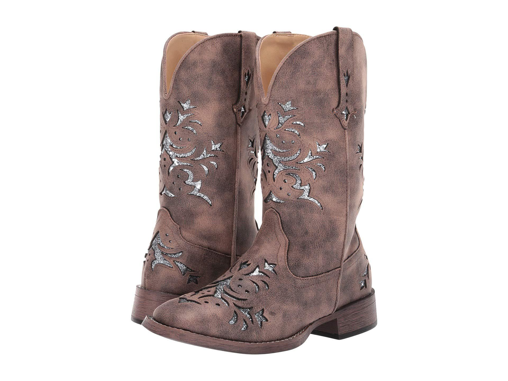 cbf4fb5b92b Lyst - Roper Kennedy (tan Faux Leather/gold Underlay) Cowboy Boots ...