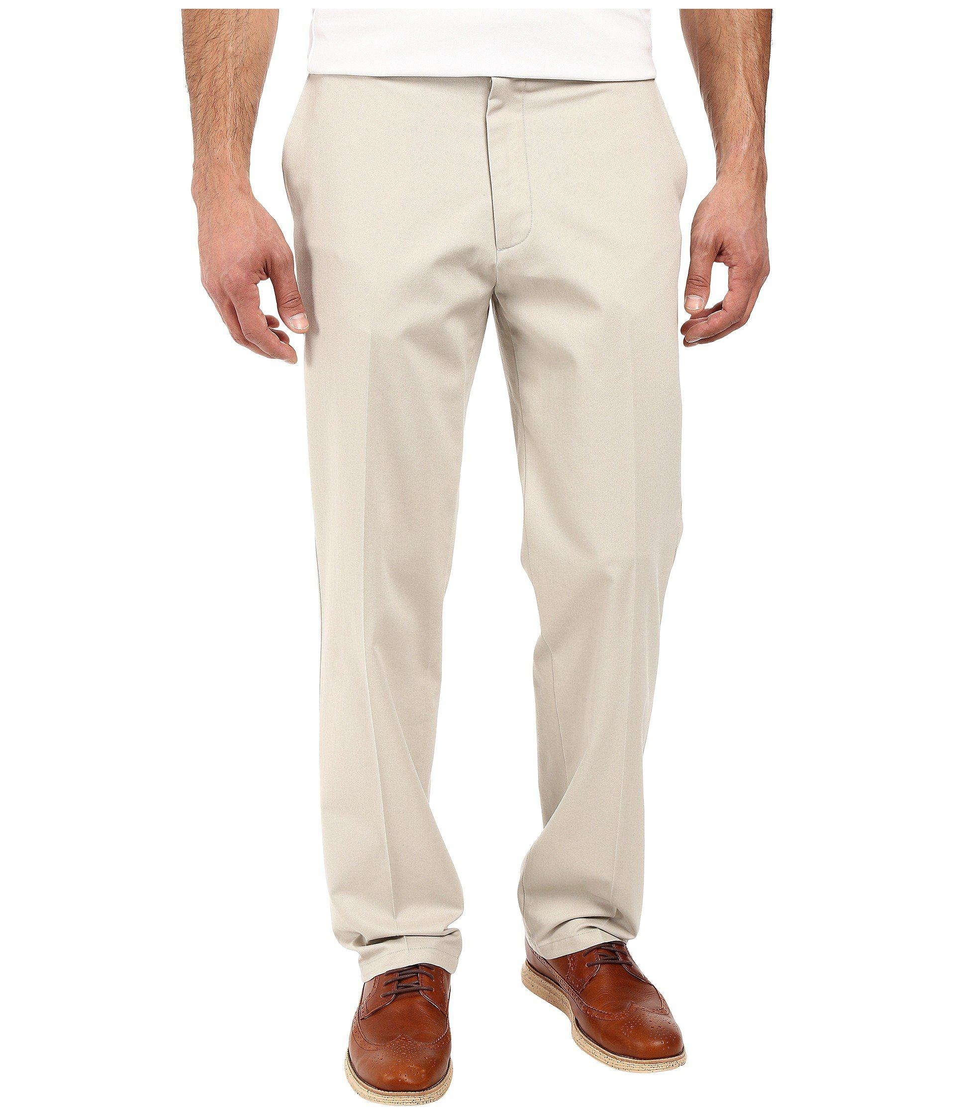 43af93386ad009 Dockers. Natural Signature Khaki D3 Classic Fit Flat Front (black) Men's  Casual Pants