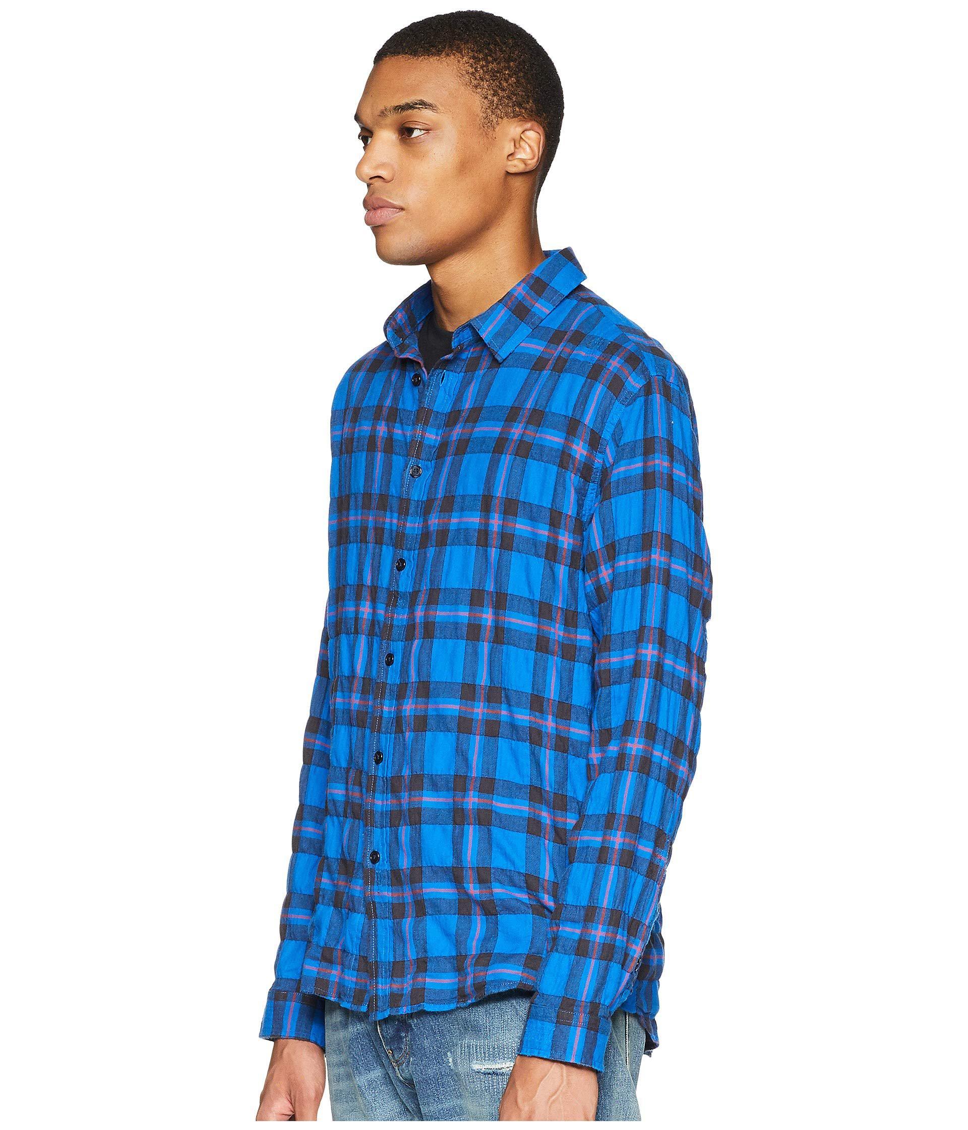 5f21c242b35 Lyst - The Kooples Buttoned Denim Shirt (blue) Men s Long Sleeve Button Up  in Blue for Men