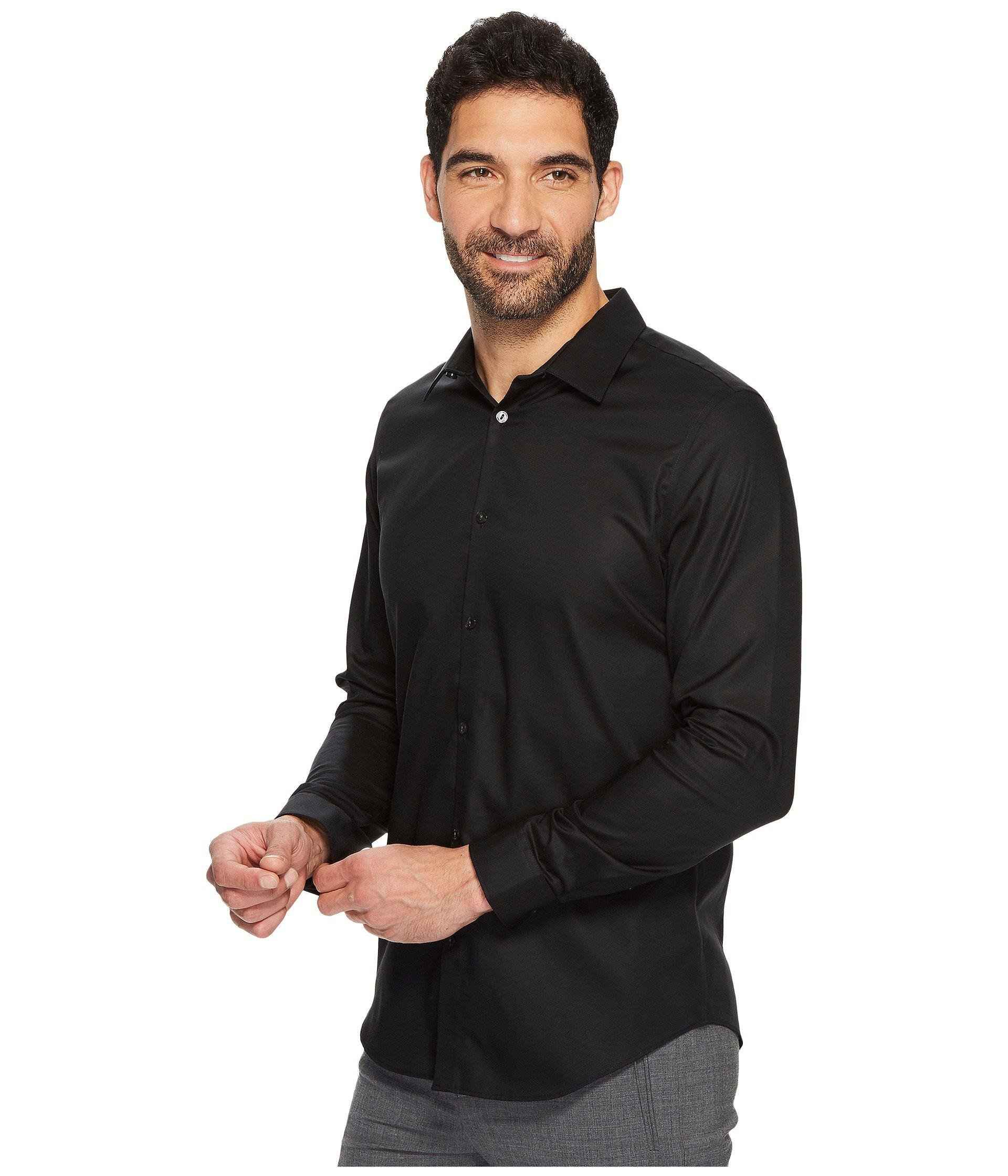 44079d7c687 Lyst - Calvin Klein Slim Fit Long Sleeve Infinite Cool Chambray Twill Shirt  (grey) Men s Clothing in Black for Men