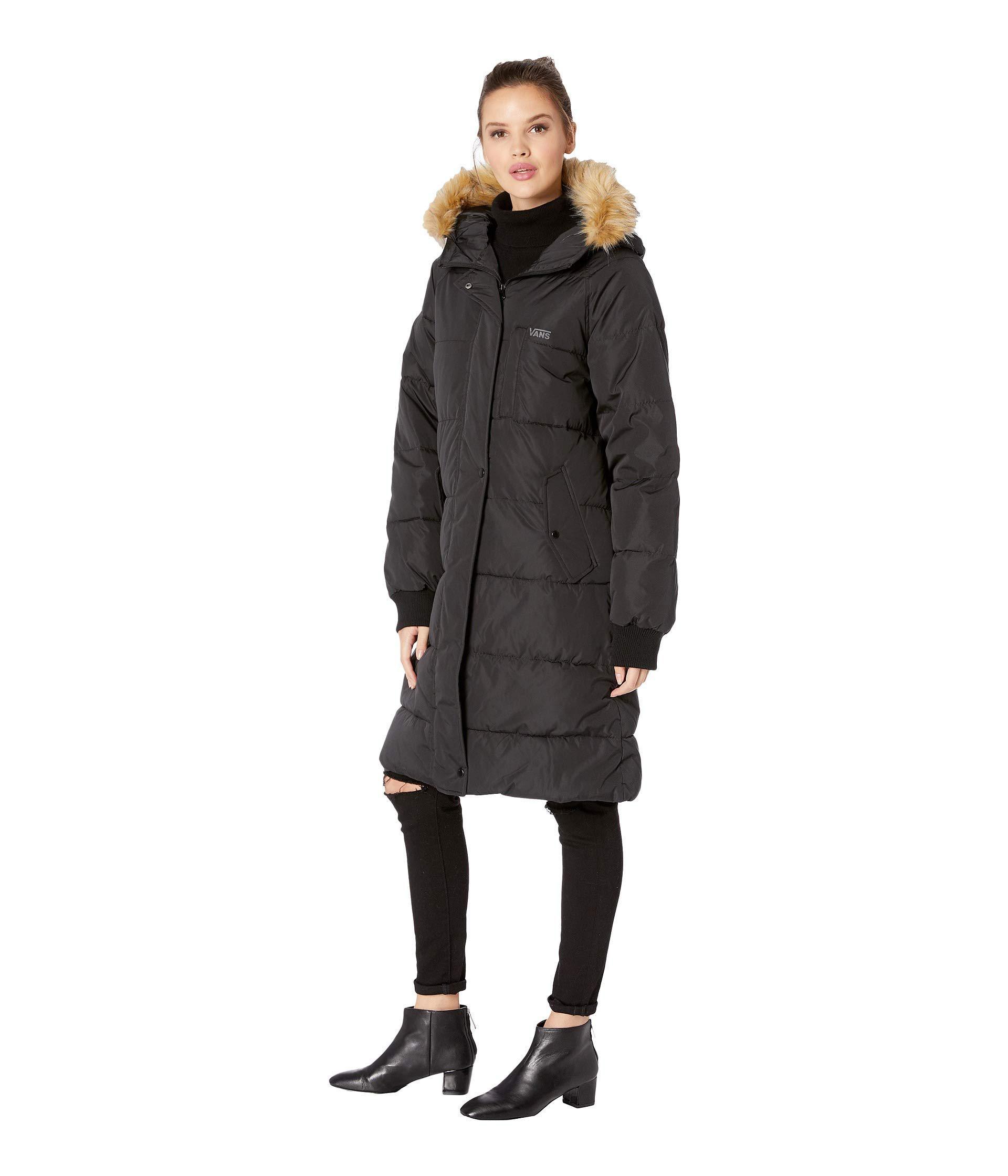 a18e63859ba Lyst - Vans Pullman Puffer Jacket (black) Women s Coat in Black