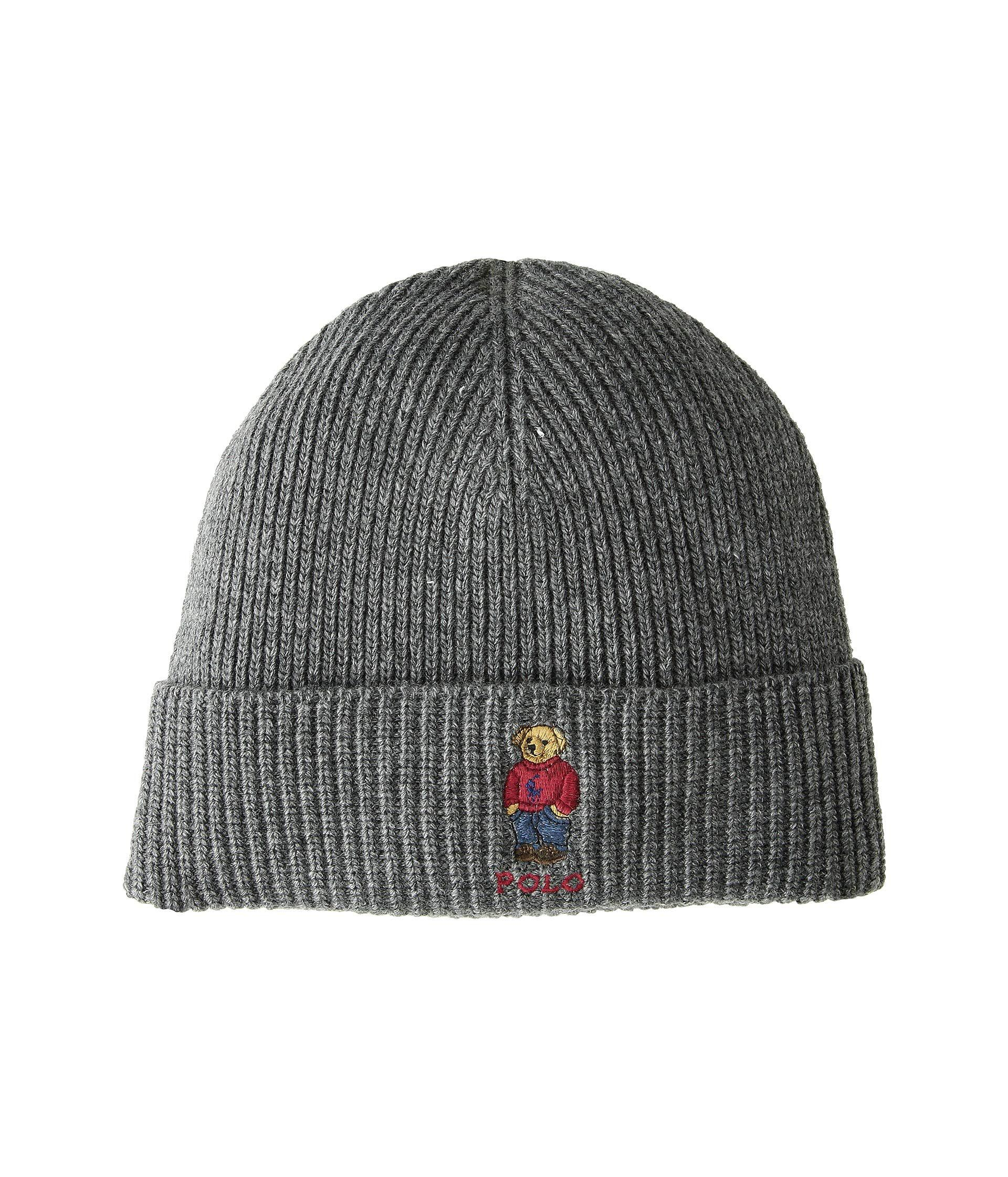 3ac71bc1 polo knit hat with bear hunters
