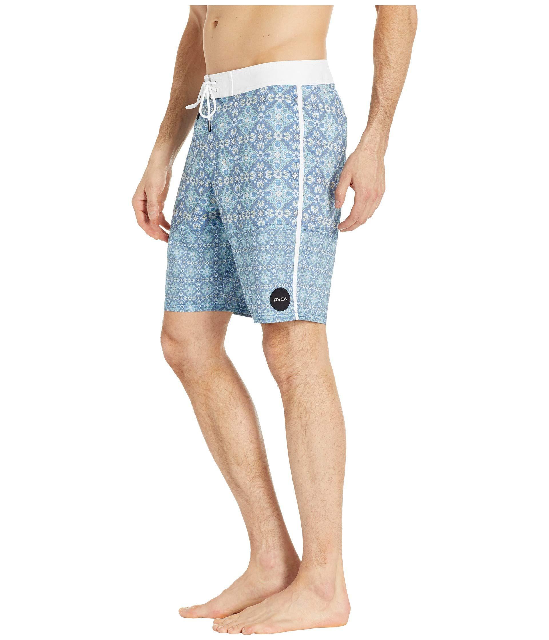 7cfa7cafd520b RVCA - Morris Trunk 19 (blue) Men's Swimwear for Men - Lyst. View fullscreen