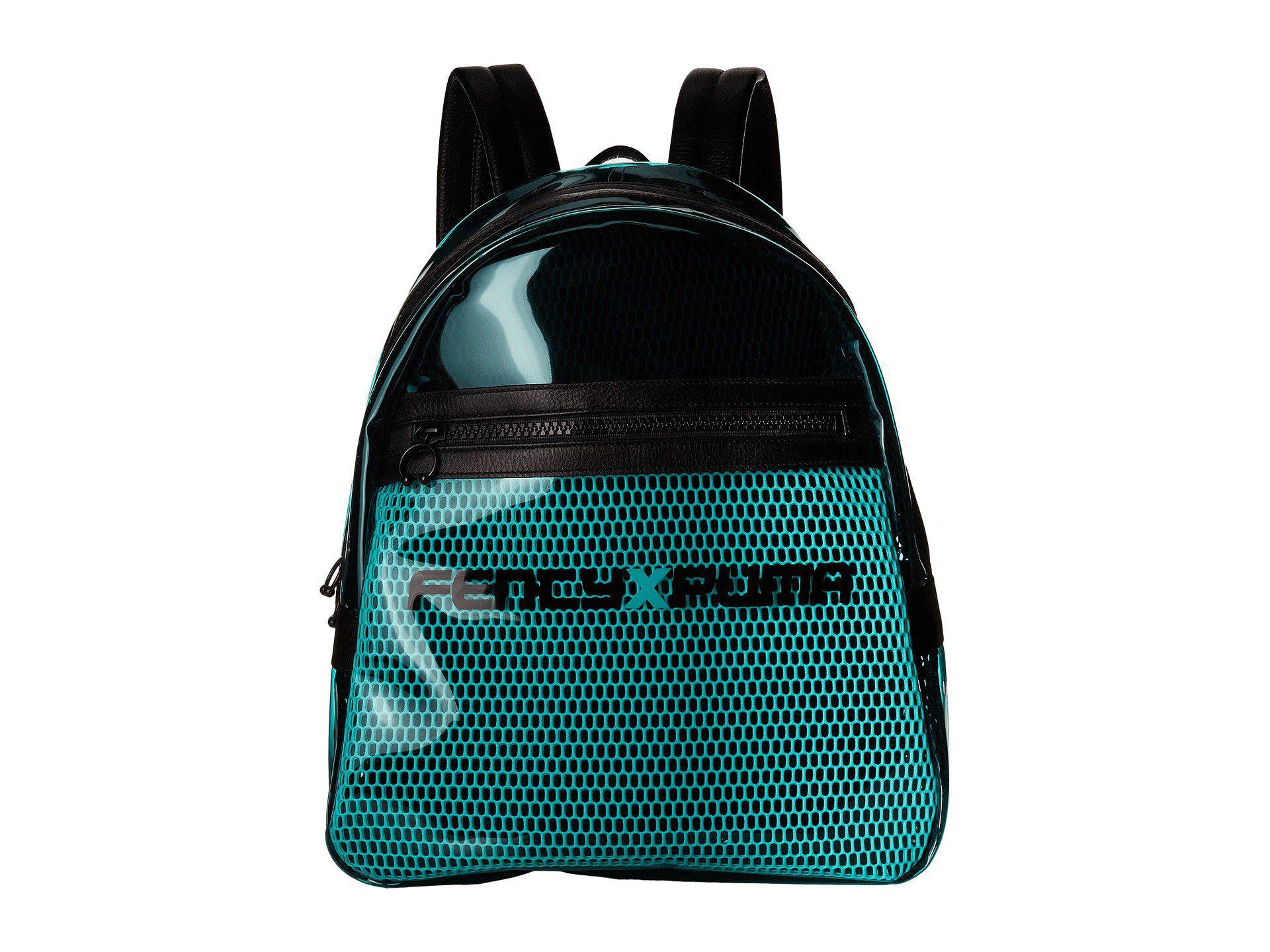 424b99ab85 Lyst - PUMA X Fenty By Rihanna Clear Backpack (bay  Black) Backpack ...