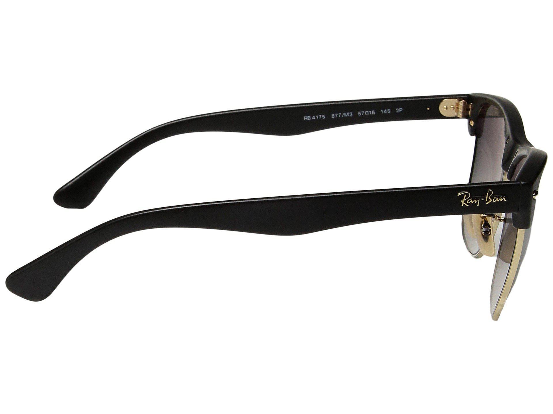 891815a1b7d Ray-Ban - Rb4175 Oversized Clubmaster 57mm (black grey Gradient) Fashion  Sunglasses. View fullscreen