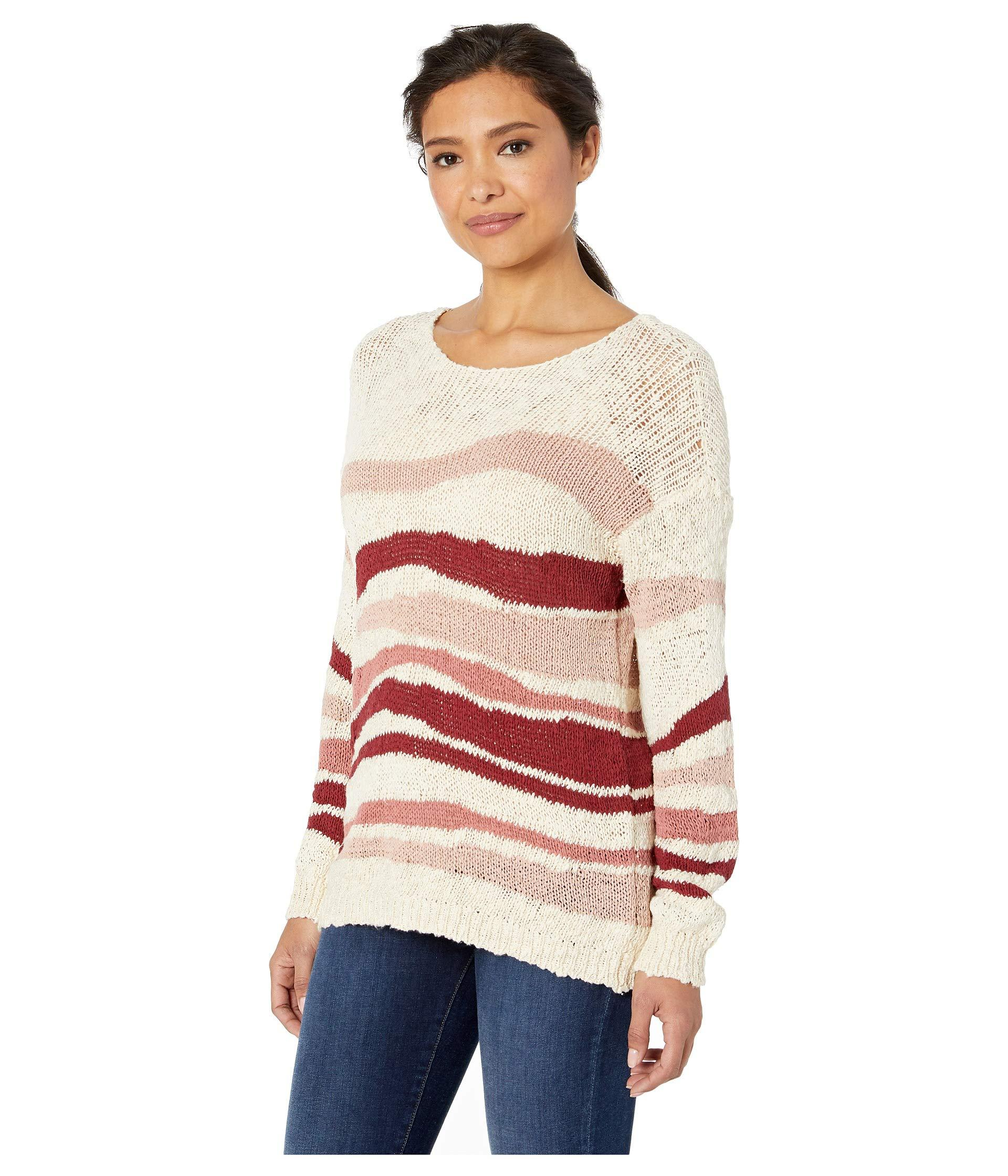 fec312efc7b7c Lyst - Two By Vince Camuto Long Sleeve Variegated Jersey Stripes Sweater  (sand Drift) Women's Sweater in Natural