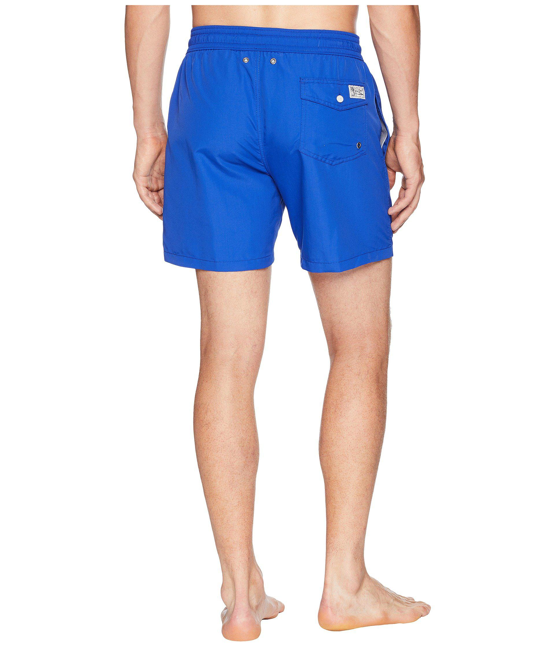 8482774681 Lyst - Polo Ralph Lauren Traveler Swim Shorts (hammond Blue) Men's ...