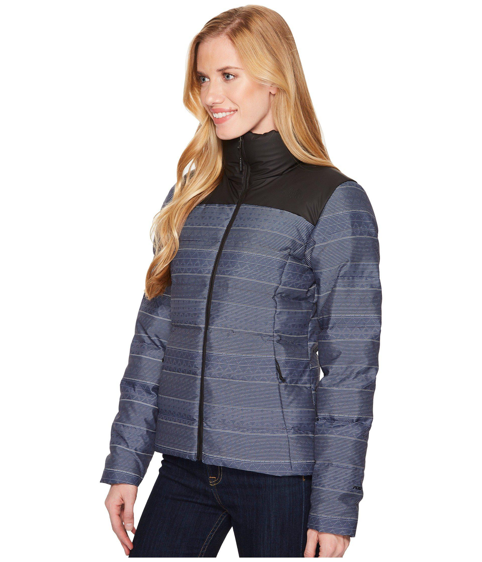 Lyst - The North Face Nuptse Jacket (mid Grey tnf Black) Women s Jacket in  Blue ead50c425