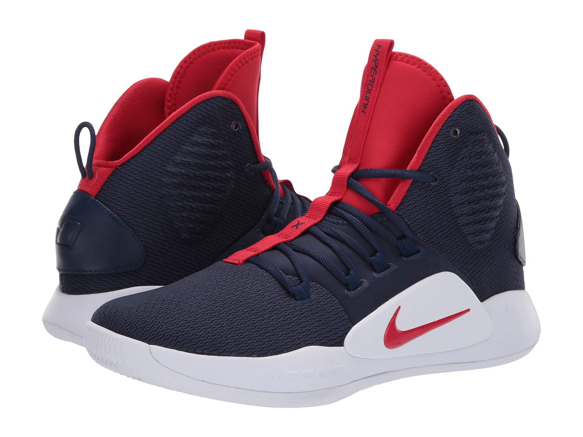5fa5195d2db1 Nike Hyperdunk X (midnight Navy university Red white) Men s ...