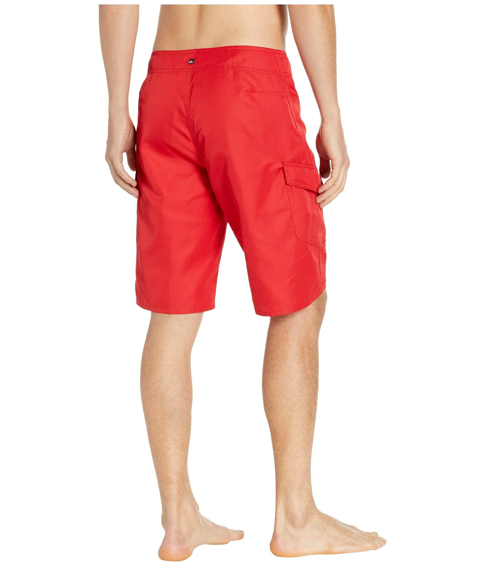 928f203daf6 Quiksilver - Red Manic Solid 21 Boardshorts for Men - Lyst. View fullscreen