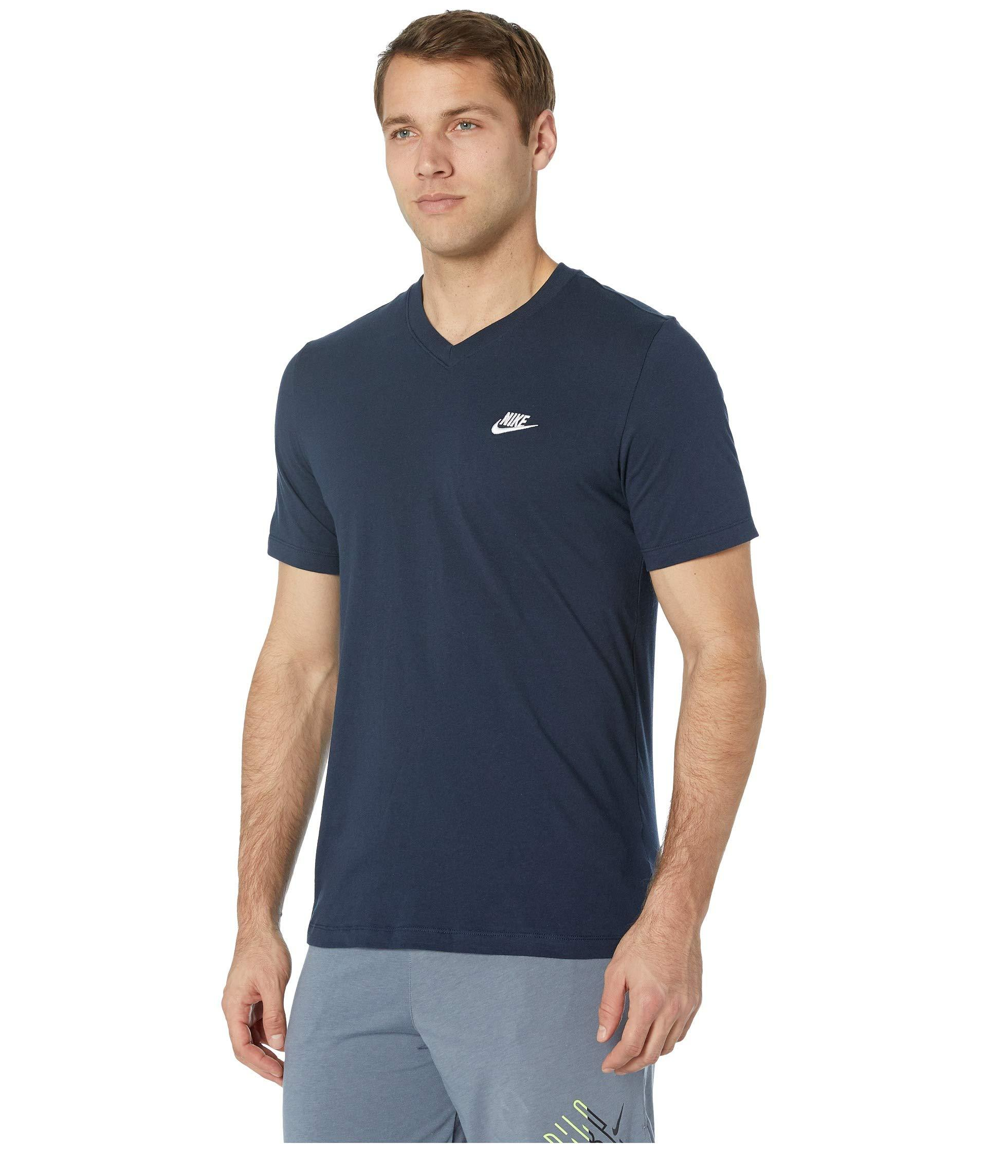 accfe9d390a4 Lyst - Nike Nsw Embroidered Futura V-neck Tee (black white) Men s Short  Sleeve Pullover in Blue for Men