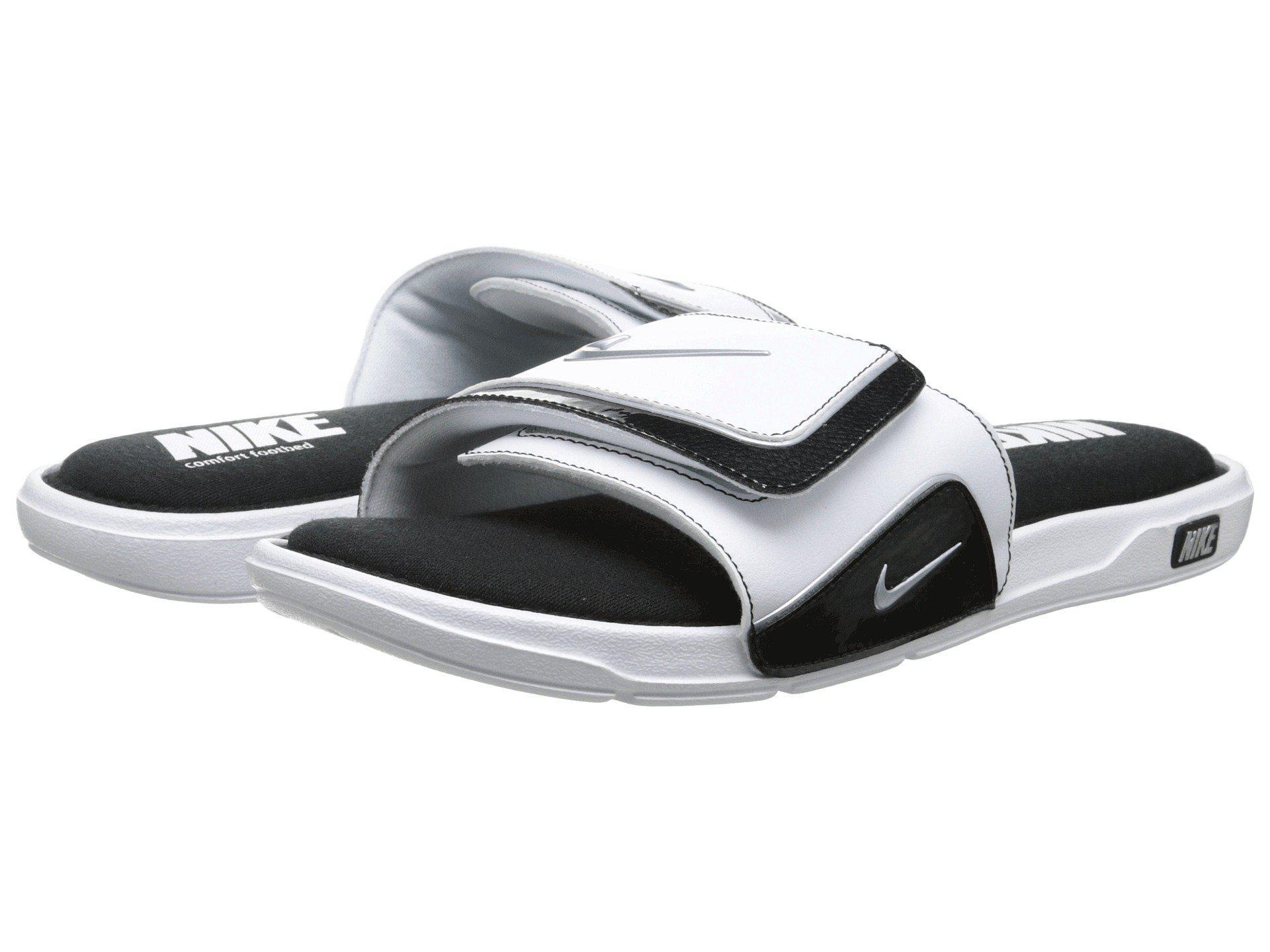c4c0cb3fb217f3 Lyst - Nike Comfort Slide 2 (black metallic Silver white) Men s ...