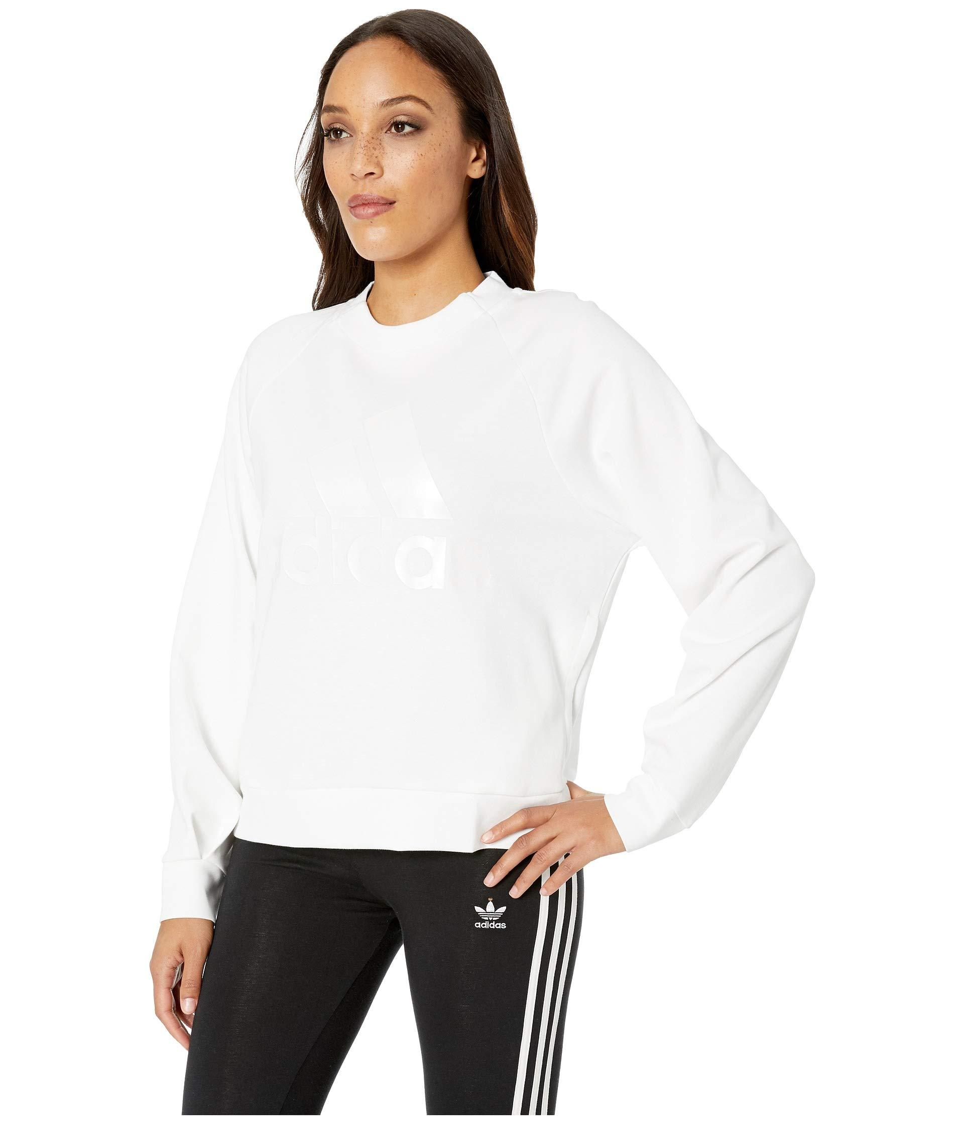 4d55dde74d Lyst - adidas Id Glory Crew (black) Women s Sweatshirt in White